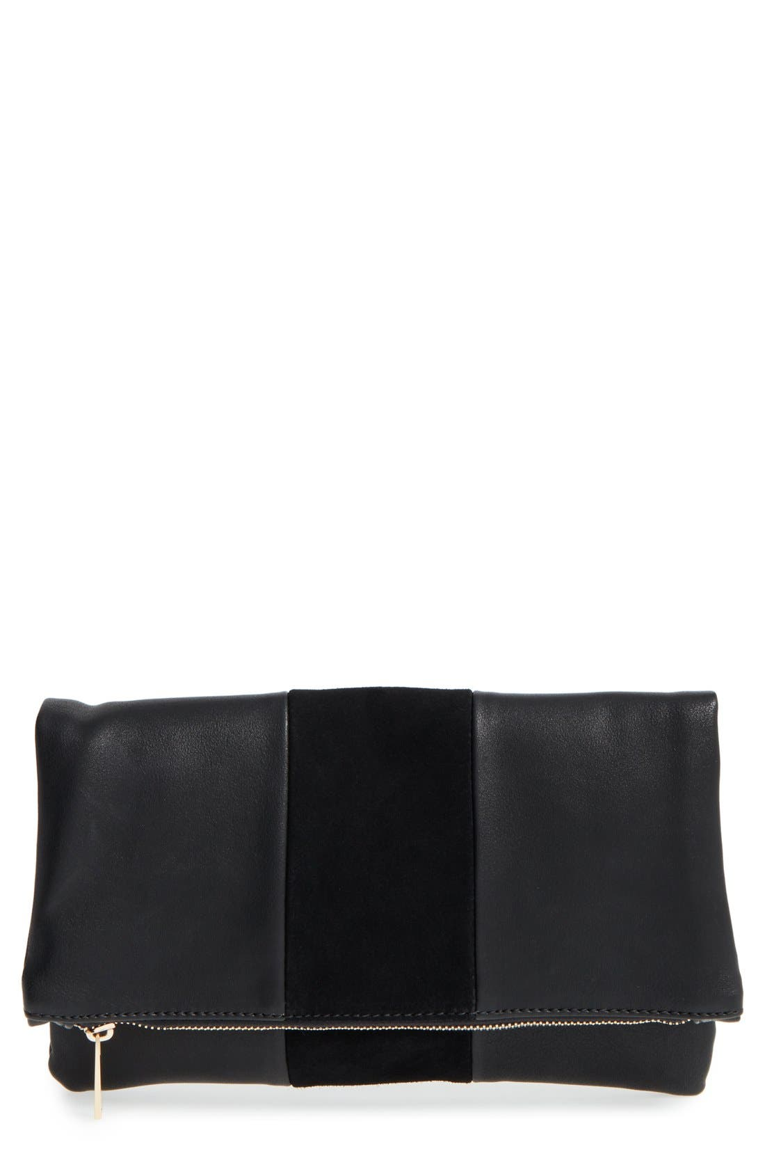 Main Image - BP. Tonal Stripe Foldover Clutch