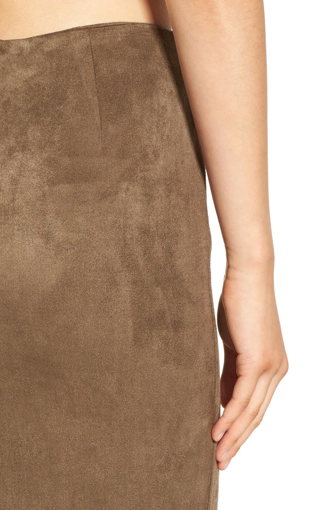 Alternate Image 7  - Missguided Faux Suede Skirt