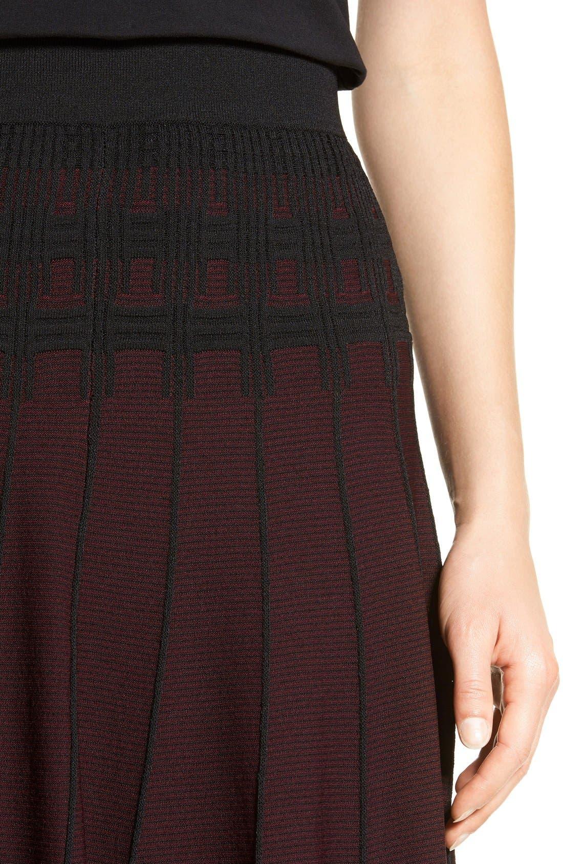 Alternate Image 5  - Ivanka Trump Jacquard Knit Flare Skirt