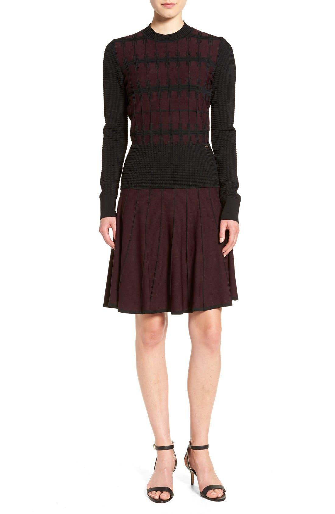 Alternate Image 2  - Ivanka Trump Jacquard Knit Flare Skirt