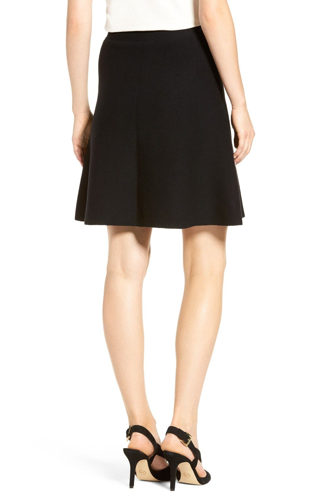 Alternate Image 3  - Halogen® Knit Skater Skirt (Regular & Petite)