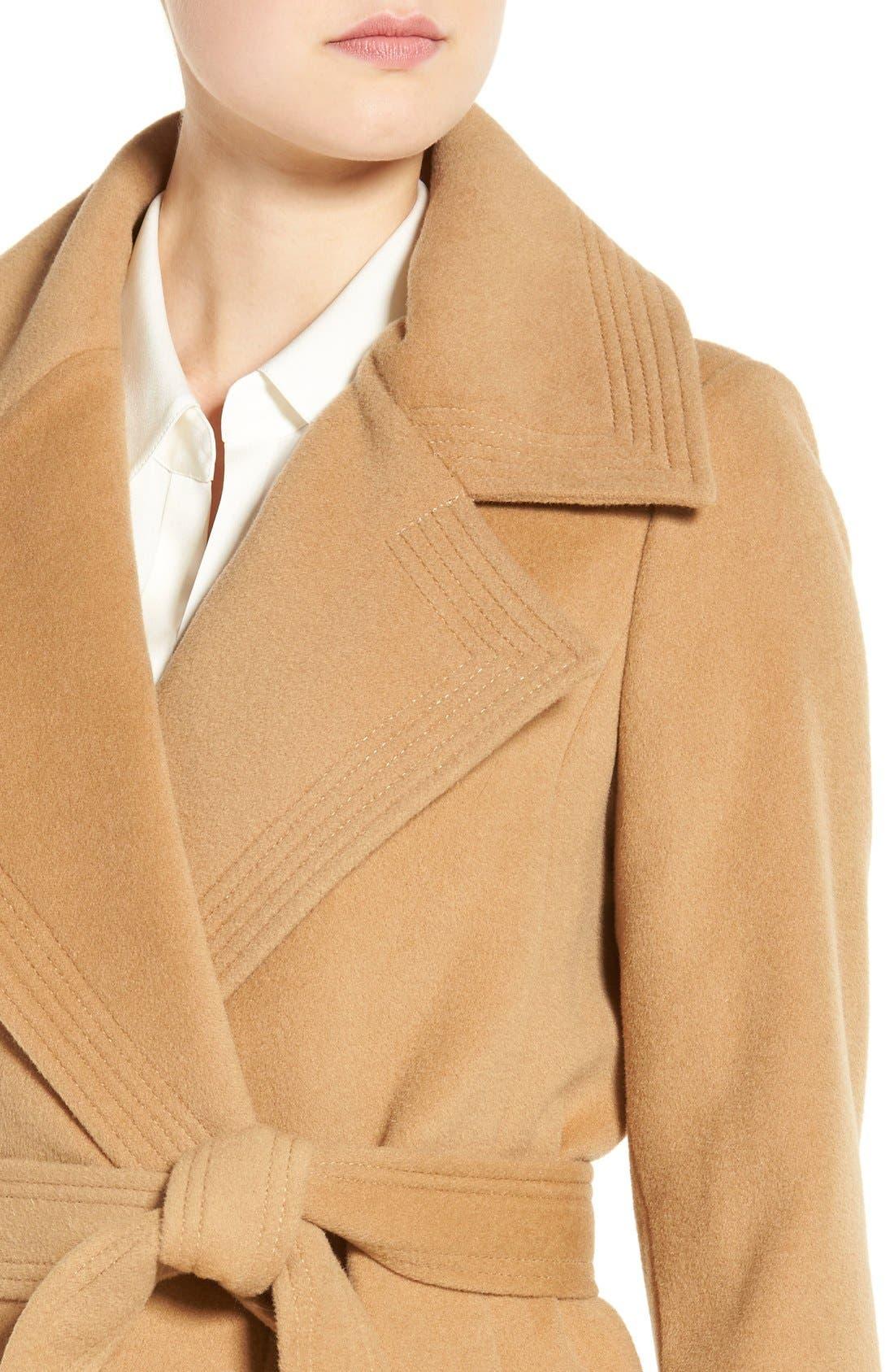 Alternate Image 4  - Diane von Furstenberg Wool Blend Wrap Coat