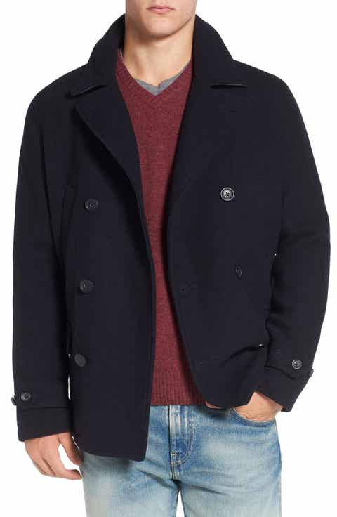 Original Penguin Wool Blend Peacoat