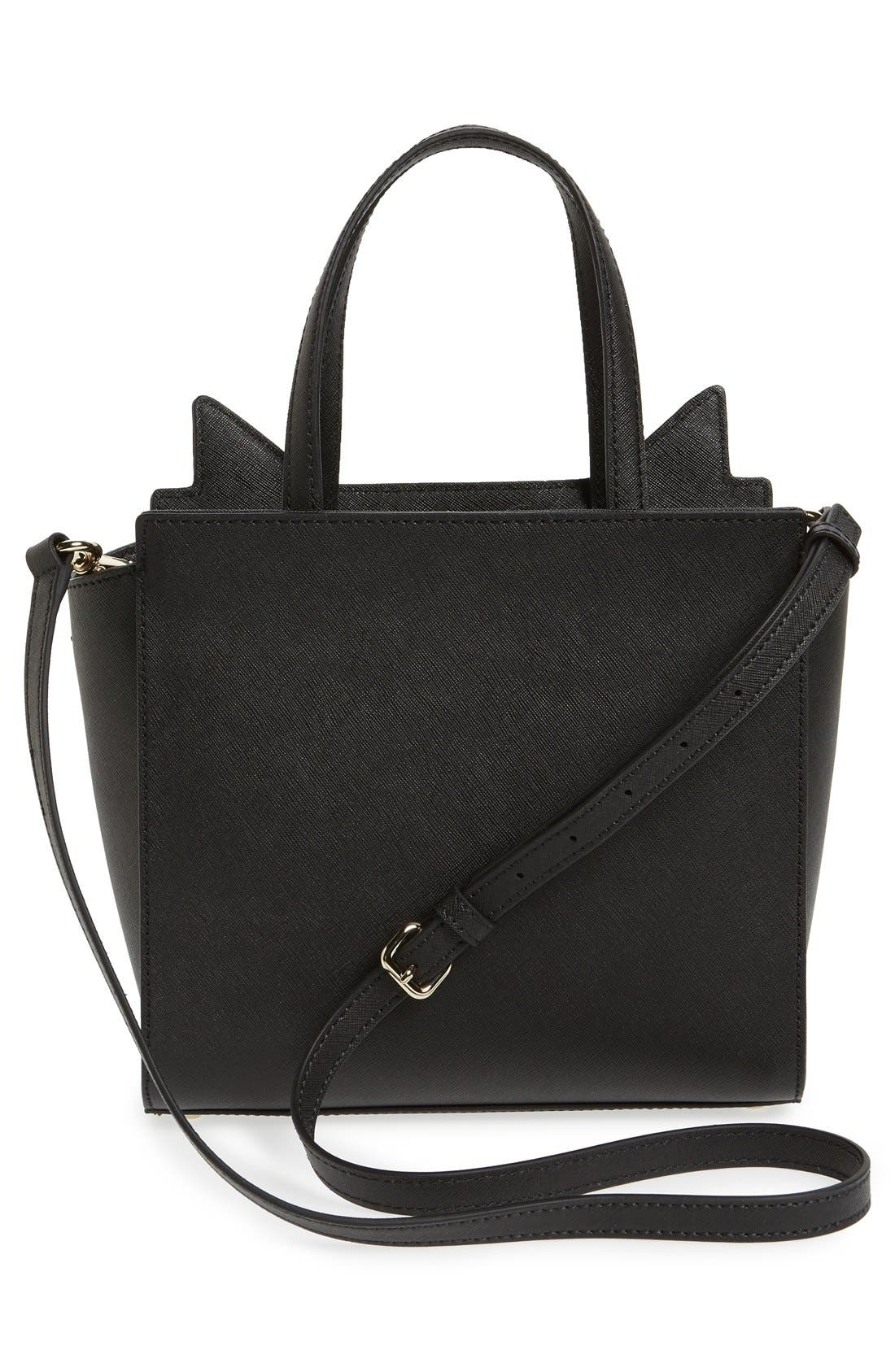 Alternate Image 3  - kate spade new york 'jazz things up cat - small hayden' saffiano leather satchel