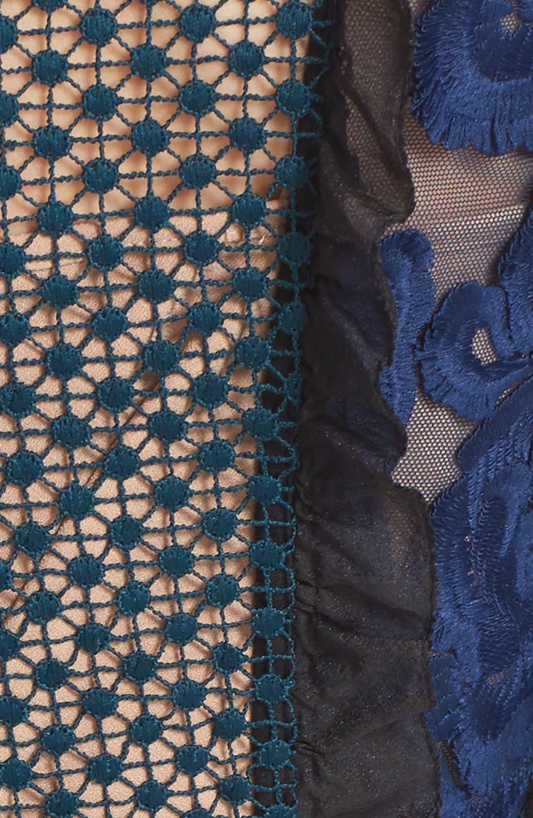 Alternate Image 5  - Self-Portrait 'Thea' Lace & Crepe Maxi Dress