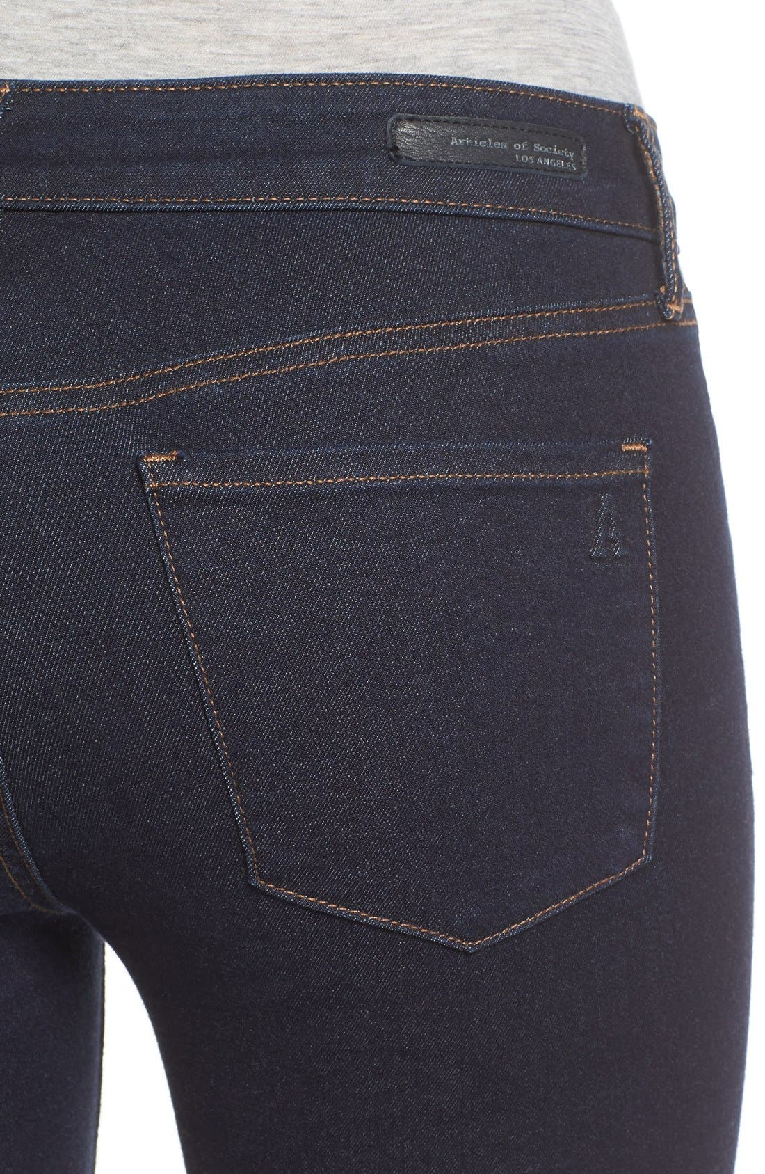 Alternate Image 5  - Articles of Society 'Sarah' Skinny Jeans (Melrose)