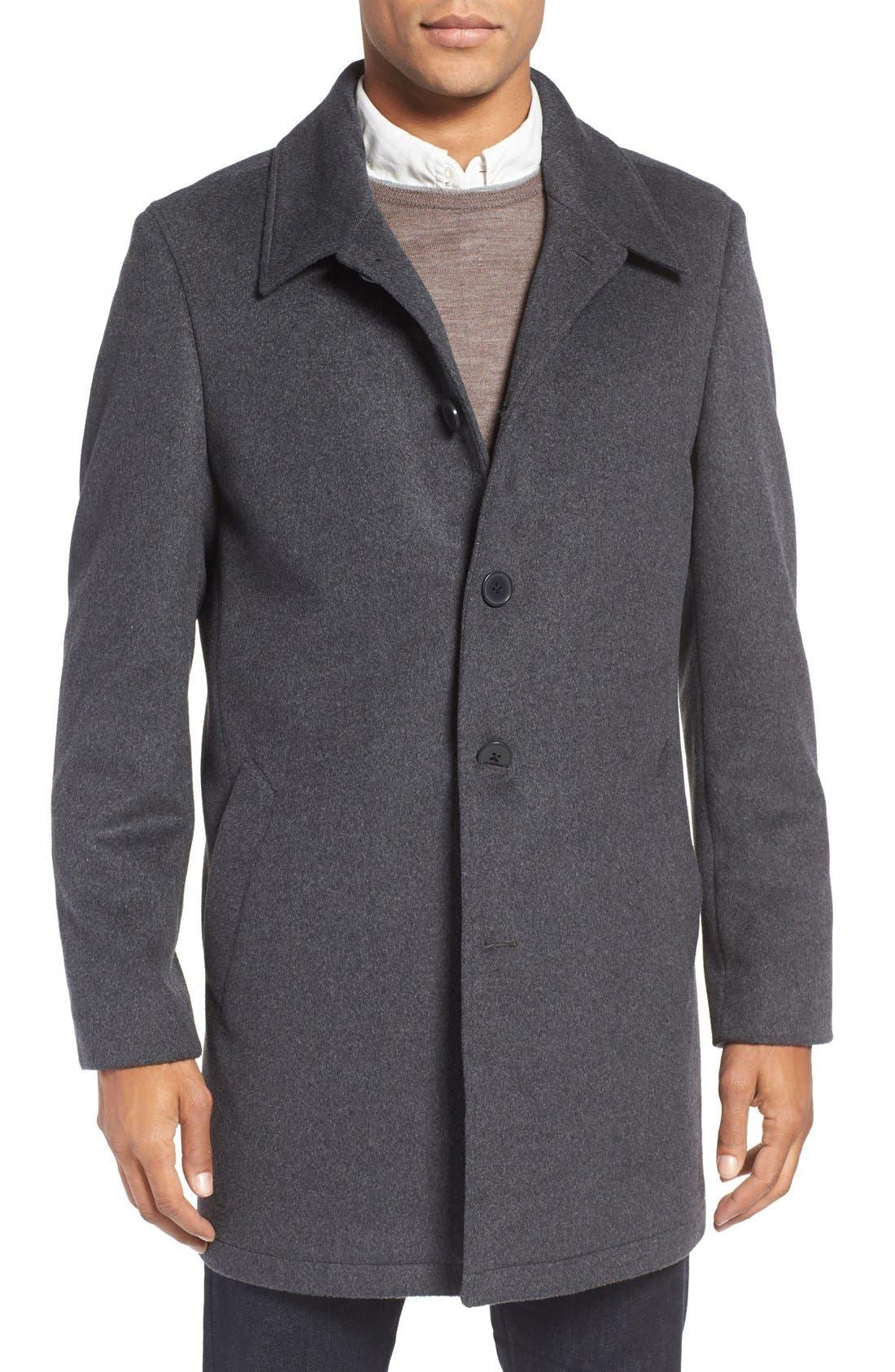 Alternate Image 1 Selected - Nordstrom Men's Shop Wool Blend Car Coat