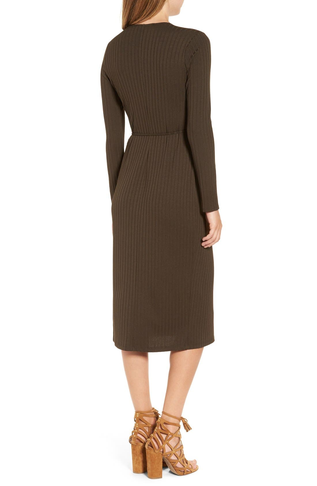 Alternate Image 2  - ASTR Rib Knit Wrap Dress
