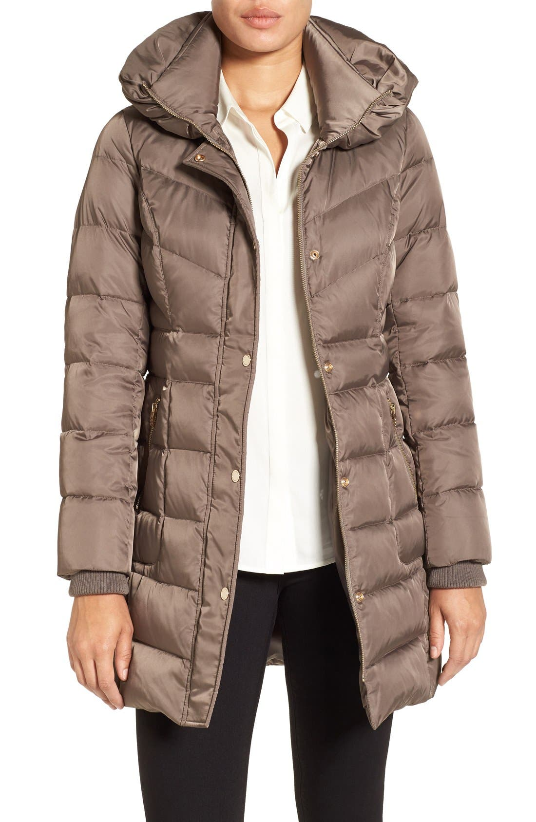 Main Image - Kenneth Cole New York Hooded Down Coat