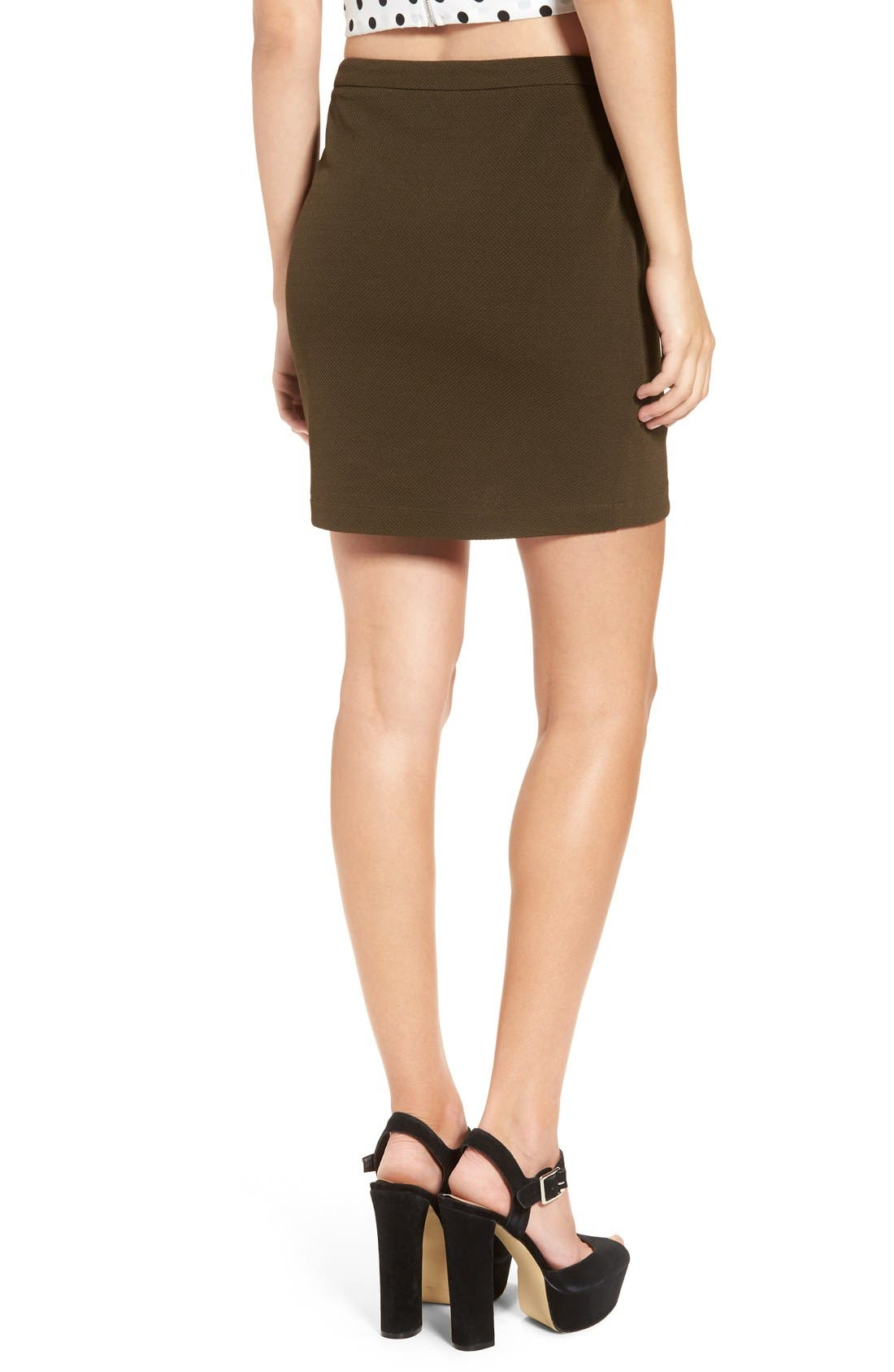 Alternate Image 2  - June & Hudson Piqué Wrap Front Miniskirt