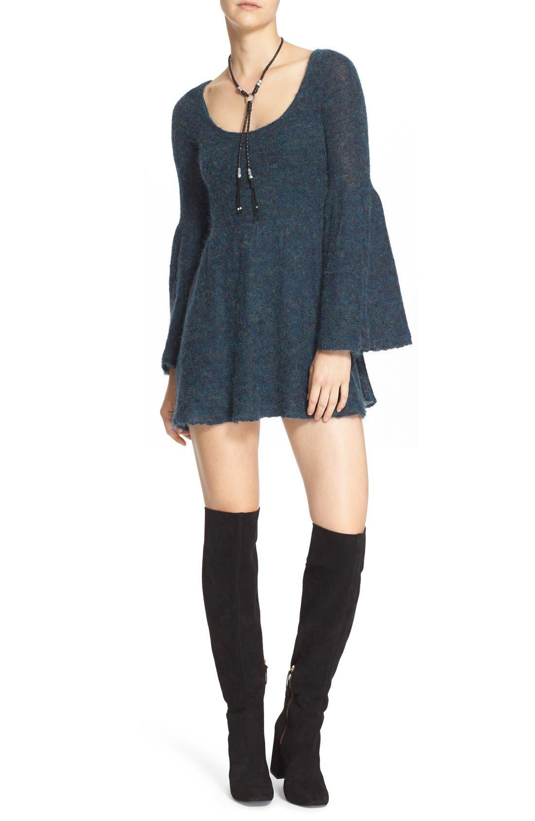 Main Image - Free People 'Juliet' Babydoll Sweater Dress