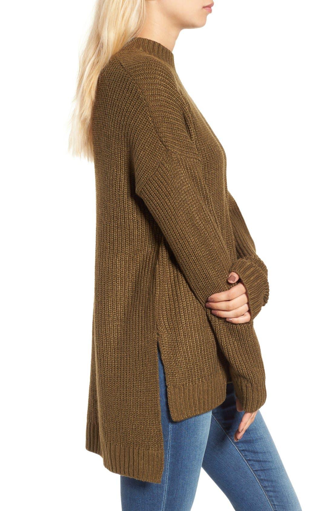 Alternate Image 3  - BP. Mock Neck Shaker Stitch Pullover
