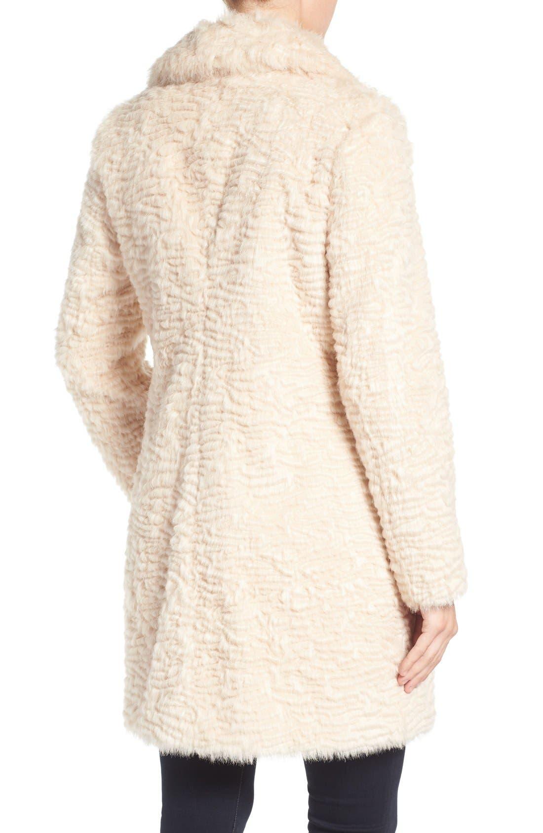 Alternate Image 3  - Eliza J Faux Persian Lamb Coat (Regular & Petite)