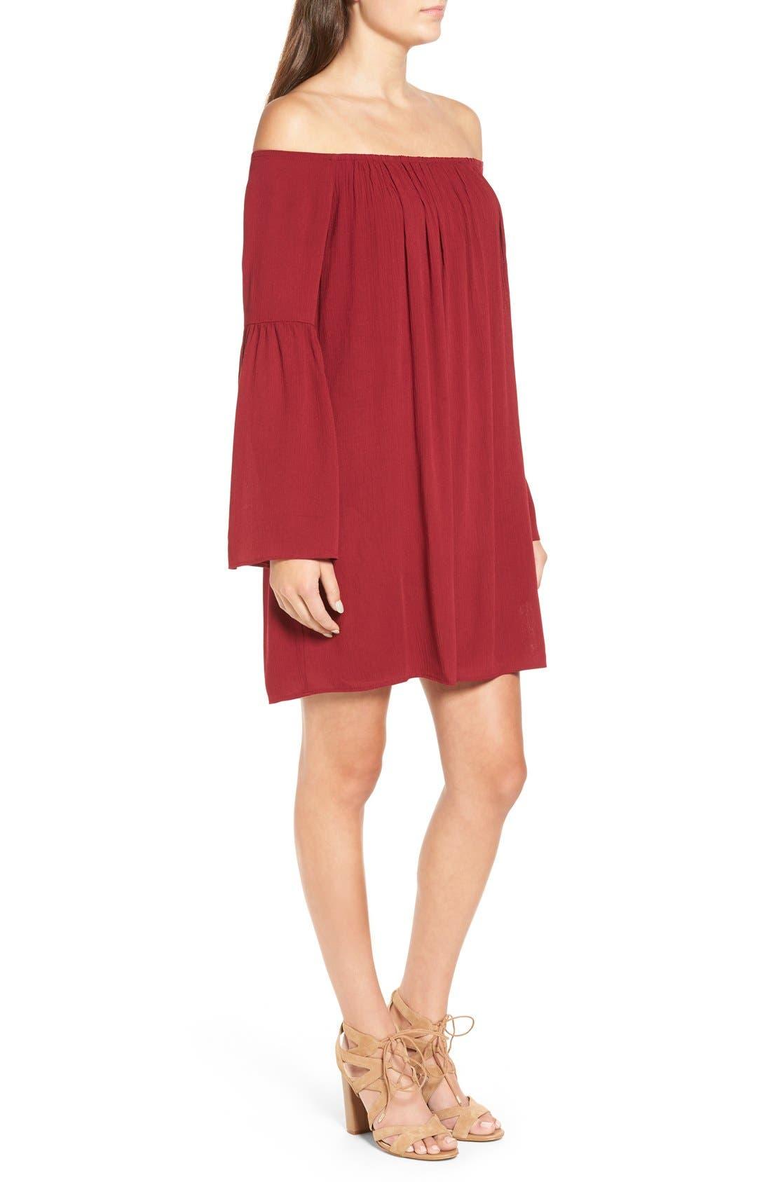 Alternate Image 3  - One Clothing Off the Shoulder Shift Dress