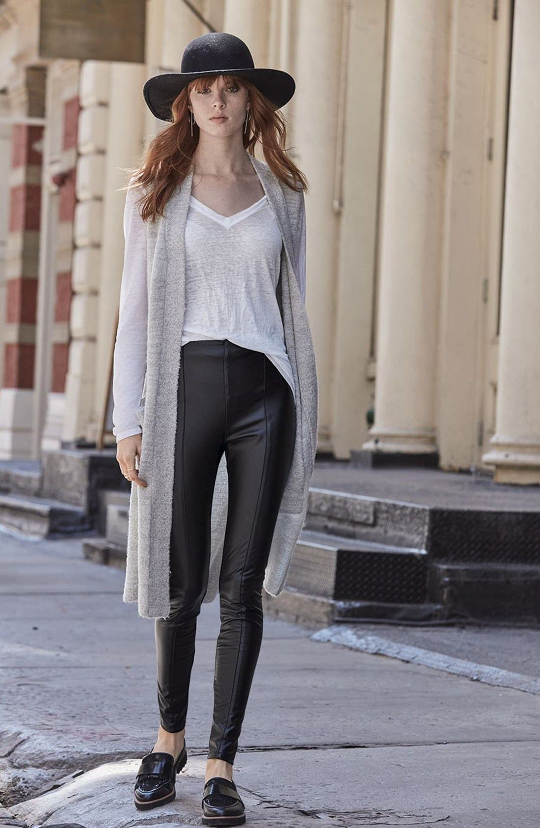 Alternate Image 7  - Lyssé High Waist Faux Leather Leggings