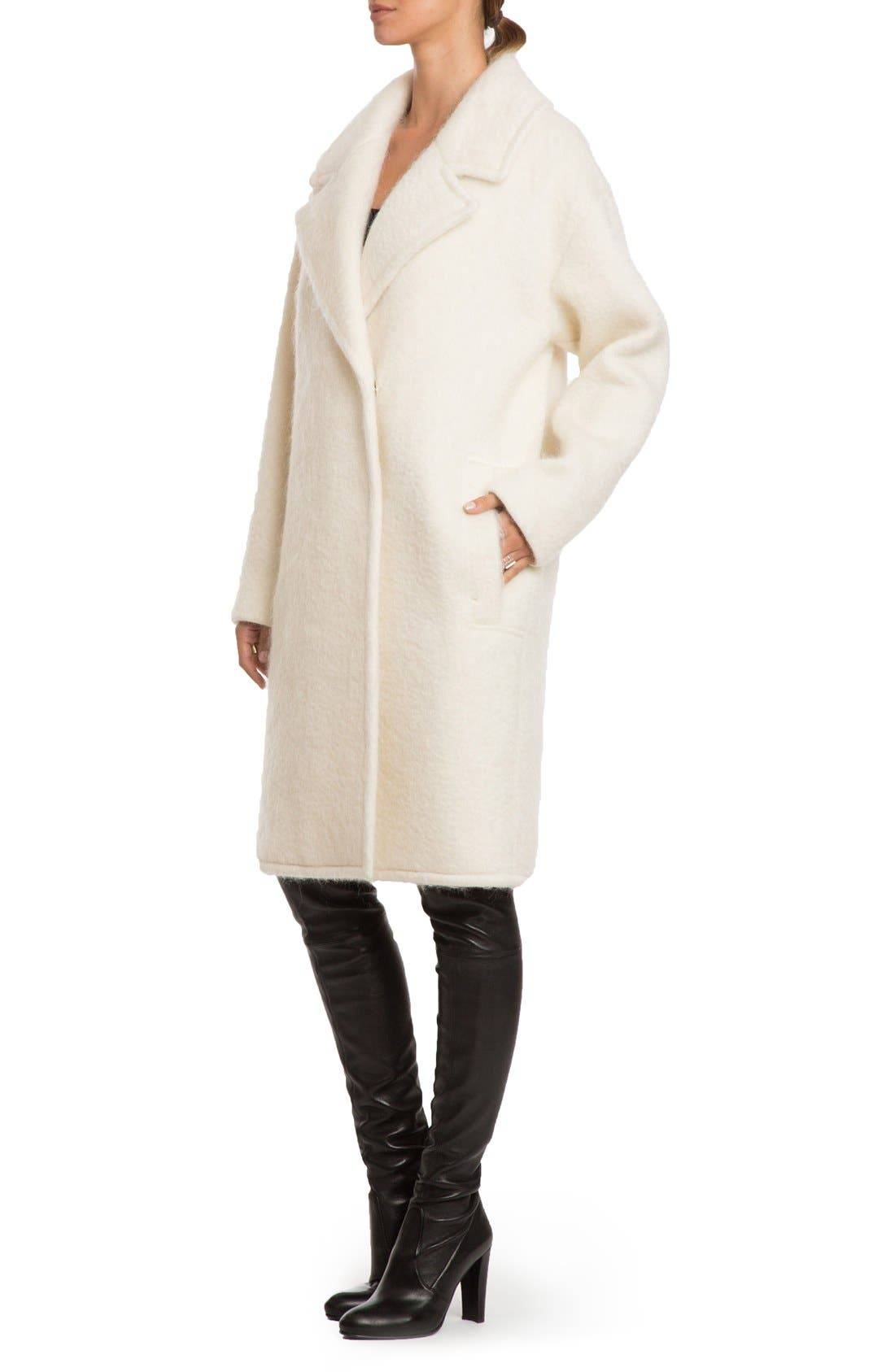 Alternate Image 3  - Badgley Mischka 'Jenna' Snap Back Cocoon Coat