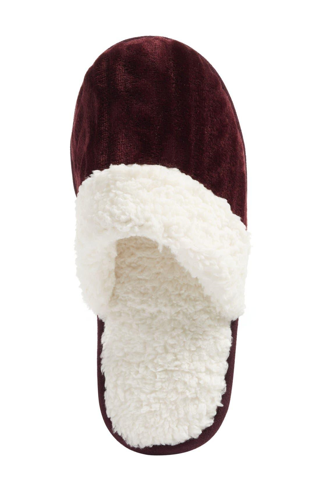 Alternate Image 3  - Nordstrom Plush Scuff Slipper (Women)