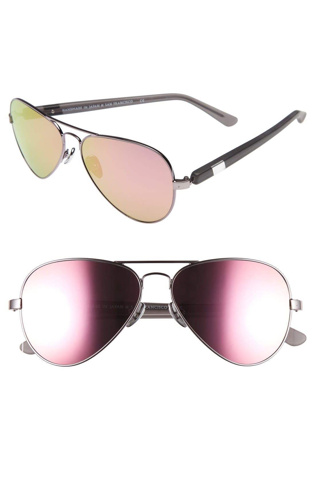 Westward Leaning 'Concorde' 58mm Aviator Sunglasses