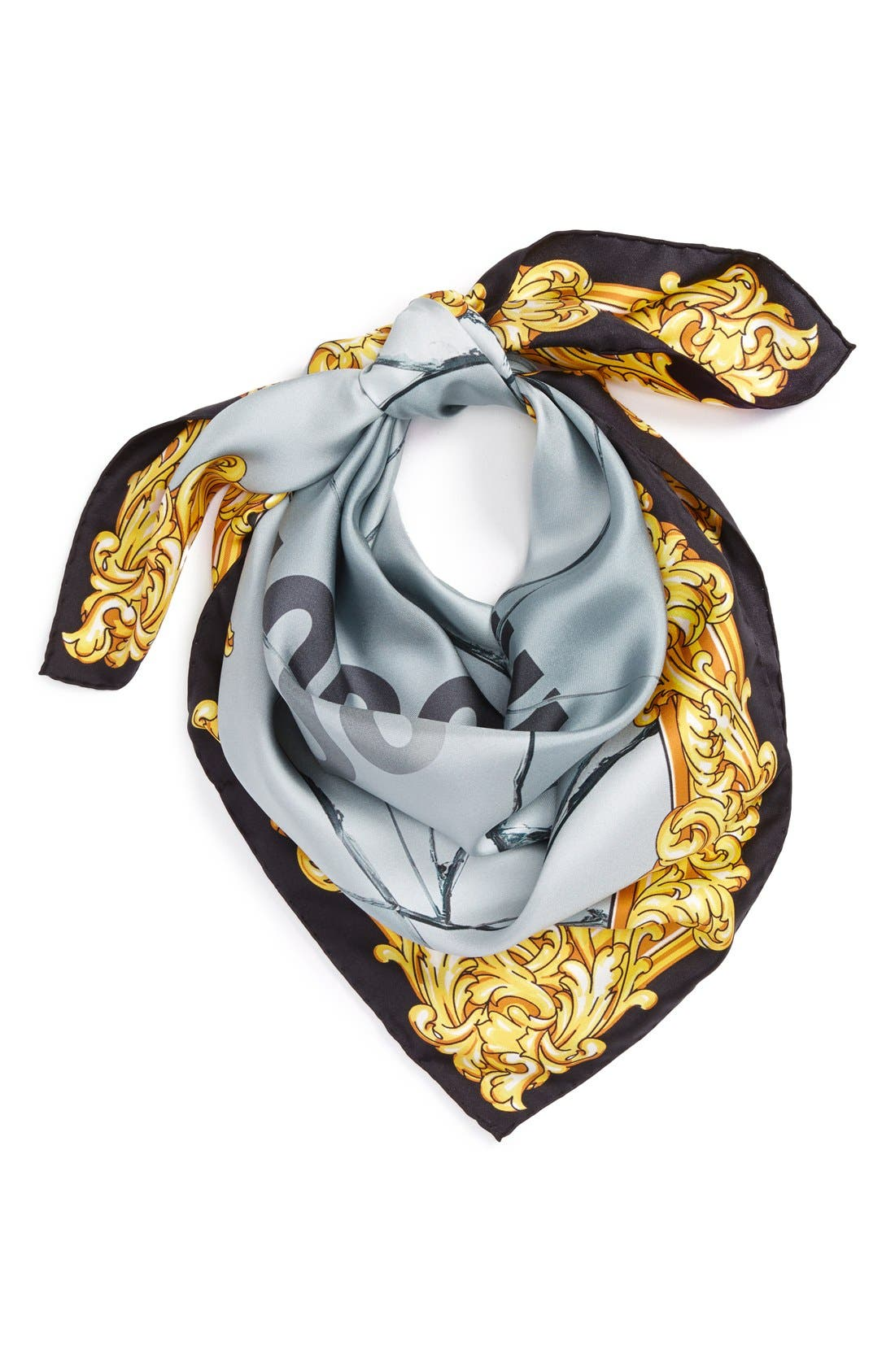 Alternate Image 2  - Moschino Golden Edge Silk Scarf