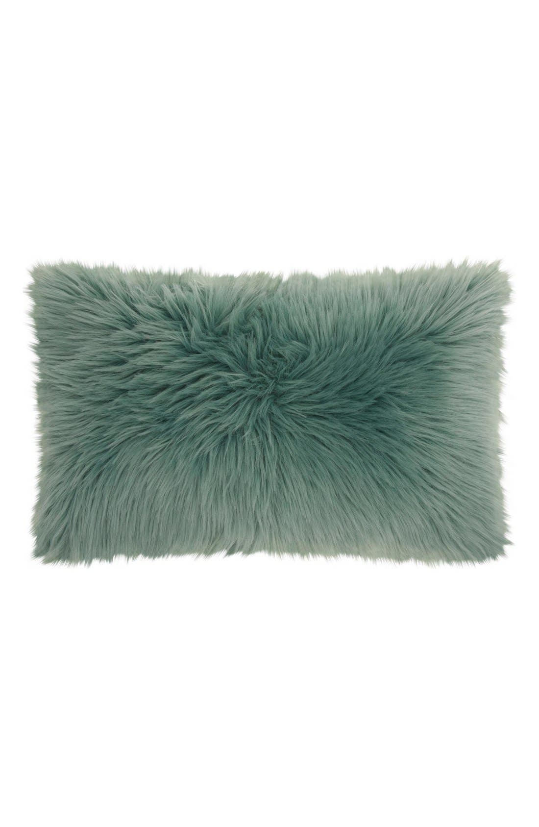 MINA VICTORY 'Sumptuous' Faux Fur Accent Pillow