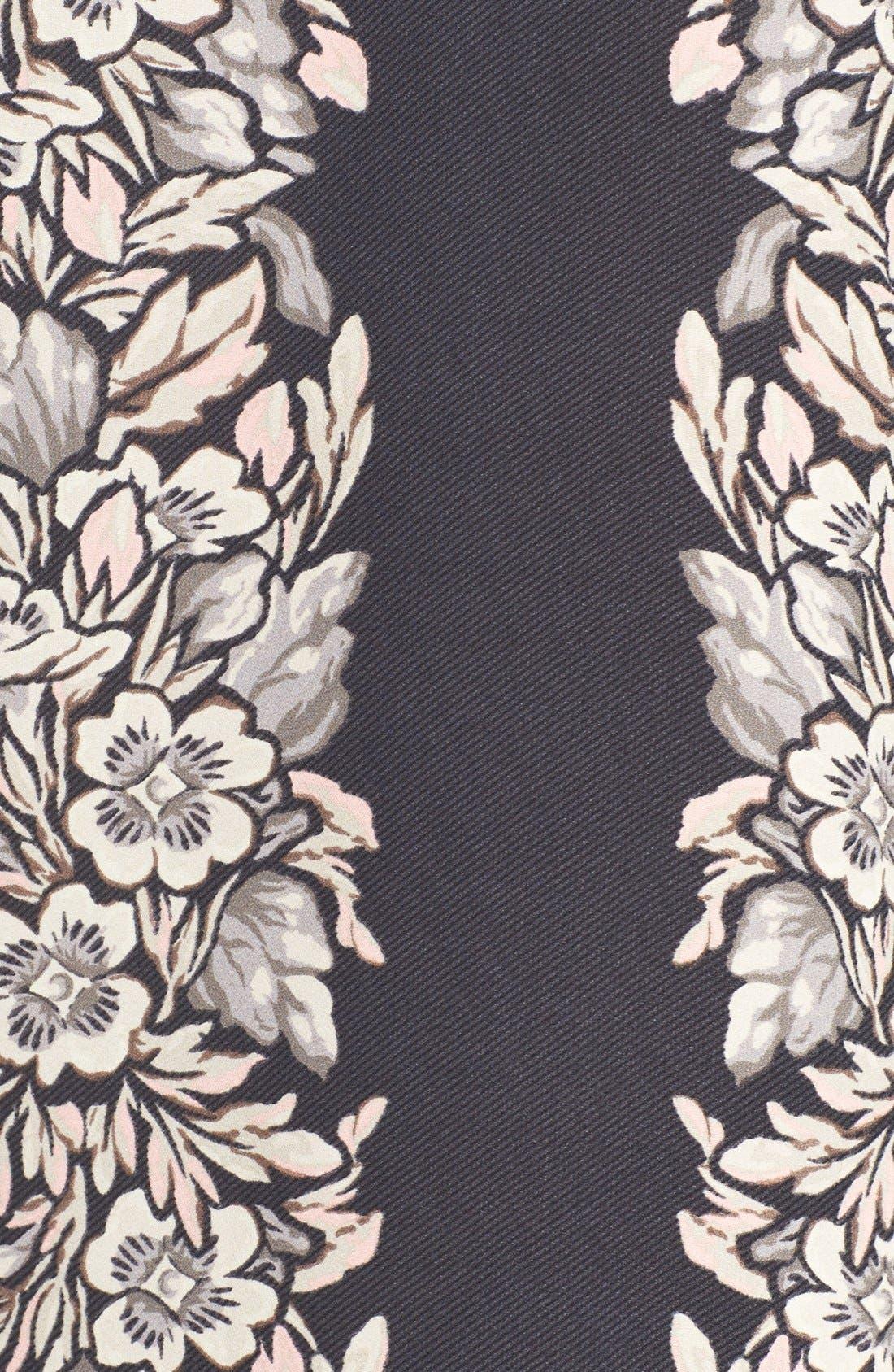 Alternate Image 6  - BCBGMAXAZRIA 'Dulchey' Floral Crepe Trapeze Dress
