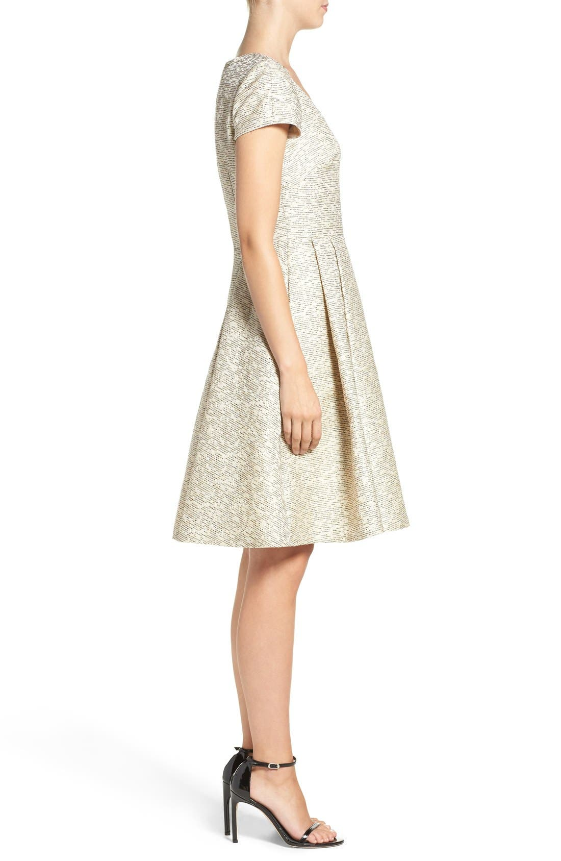 Alternate Image 3  - Eliza J Metallic Jacquard Fit & Flare Dress