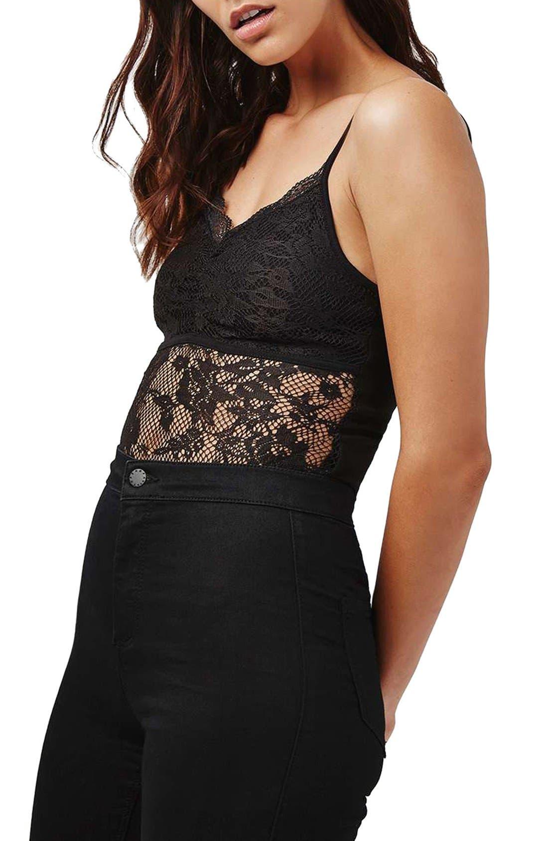 Alternate Image 4  - Topshop Lace Scallop Bodysuit