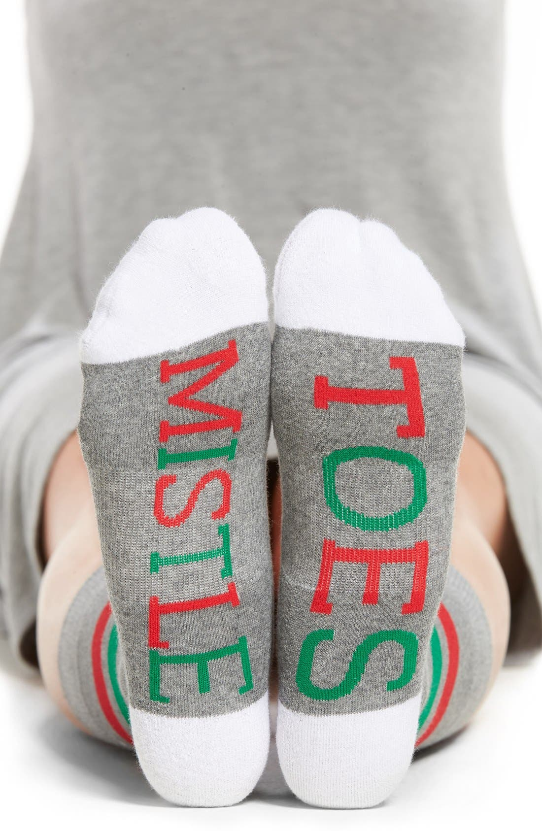 Main Image - SOCKART 'Mistle Toes' Crew Socks