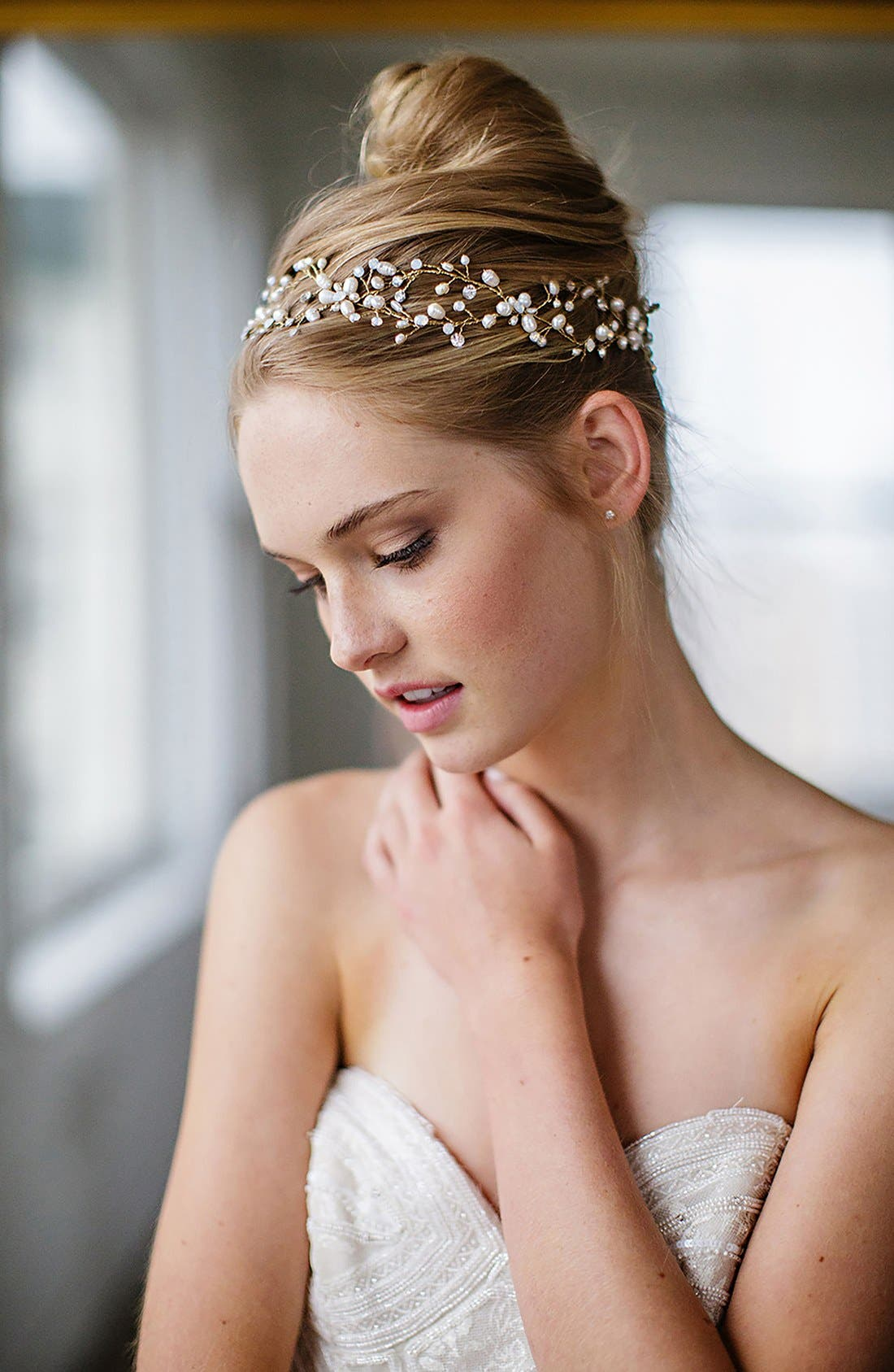BRIDES & HAIRPINS 'Arabella' Jeweled Halo & Sash