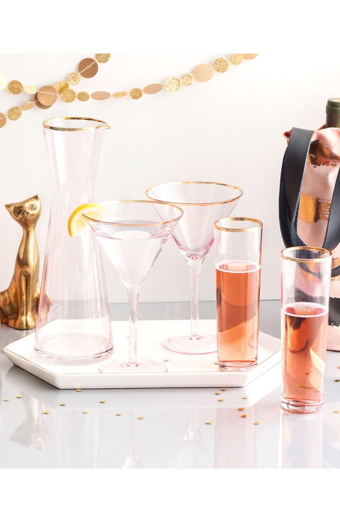 Alternate Image 2  - Rosanna Pink Glass Champagne Flutes (Set of 4)