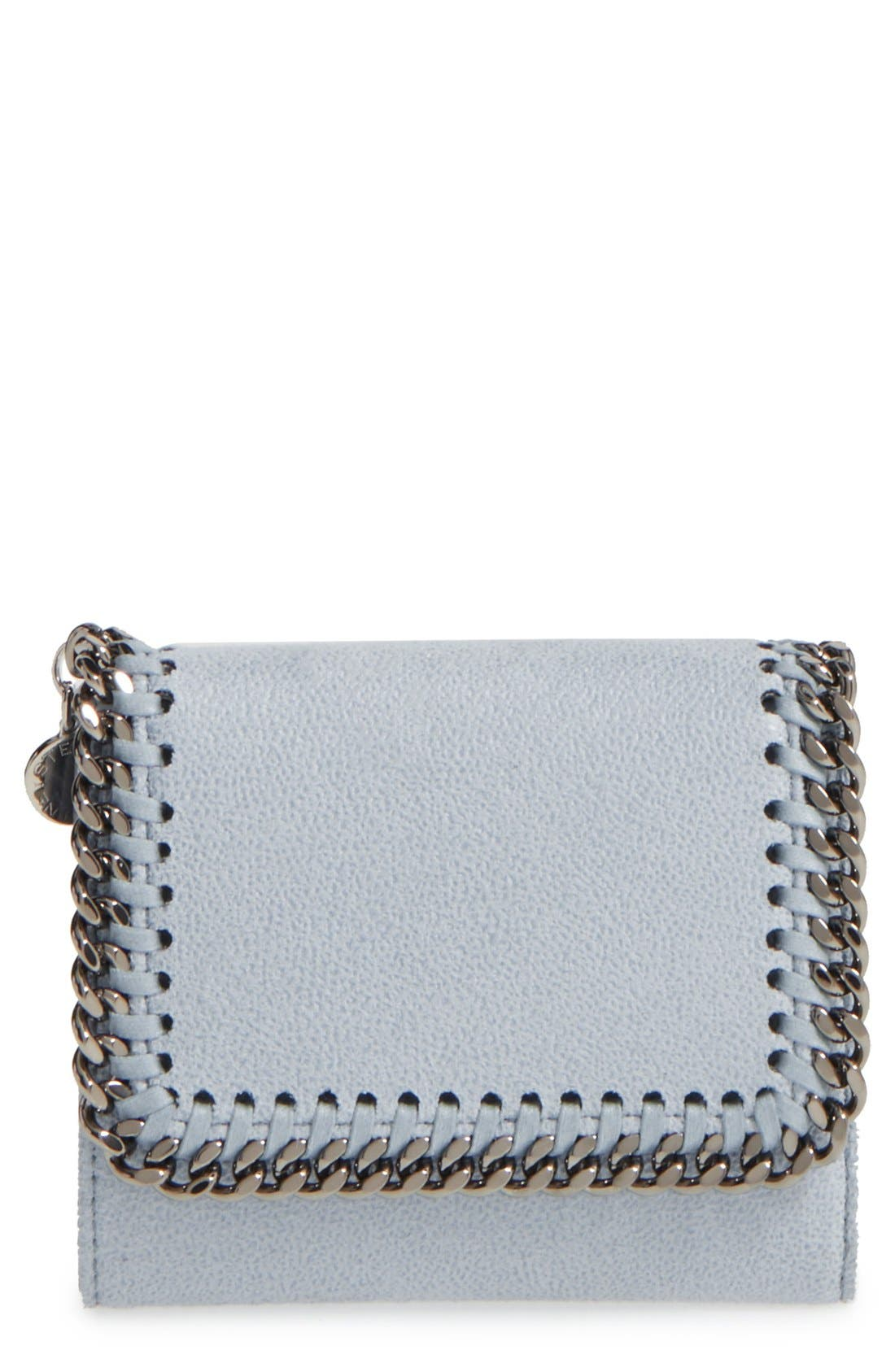 Main Image - Stella McCartney 'Small Falabella' Faux Leather French Wallet
