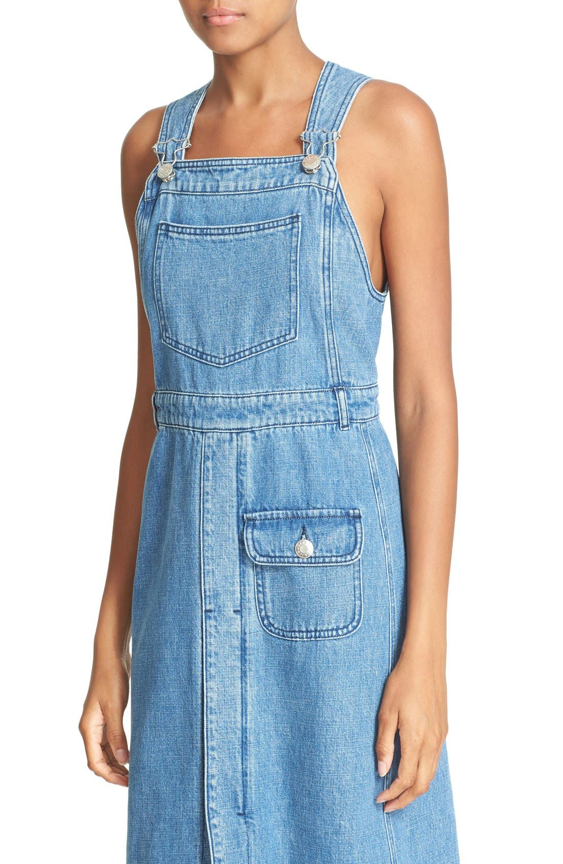 Alternate Image 4  - See by Chloé Denim Overall Dress