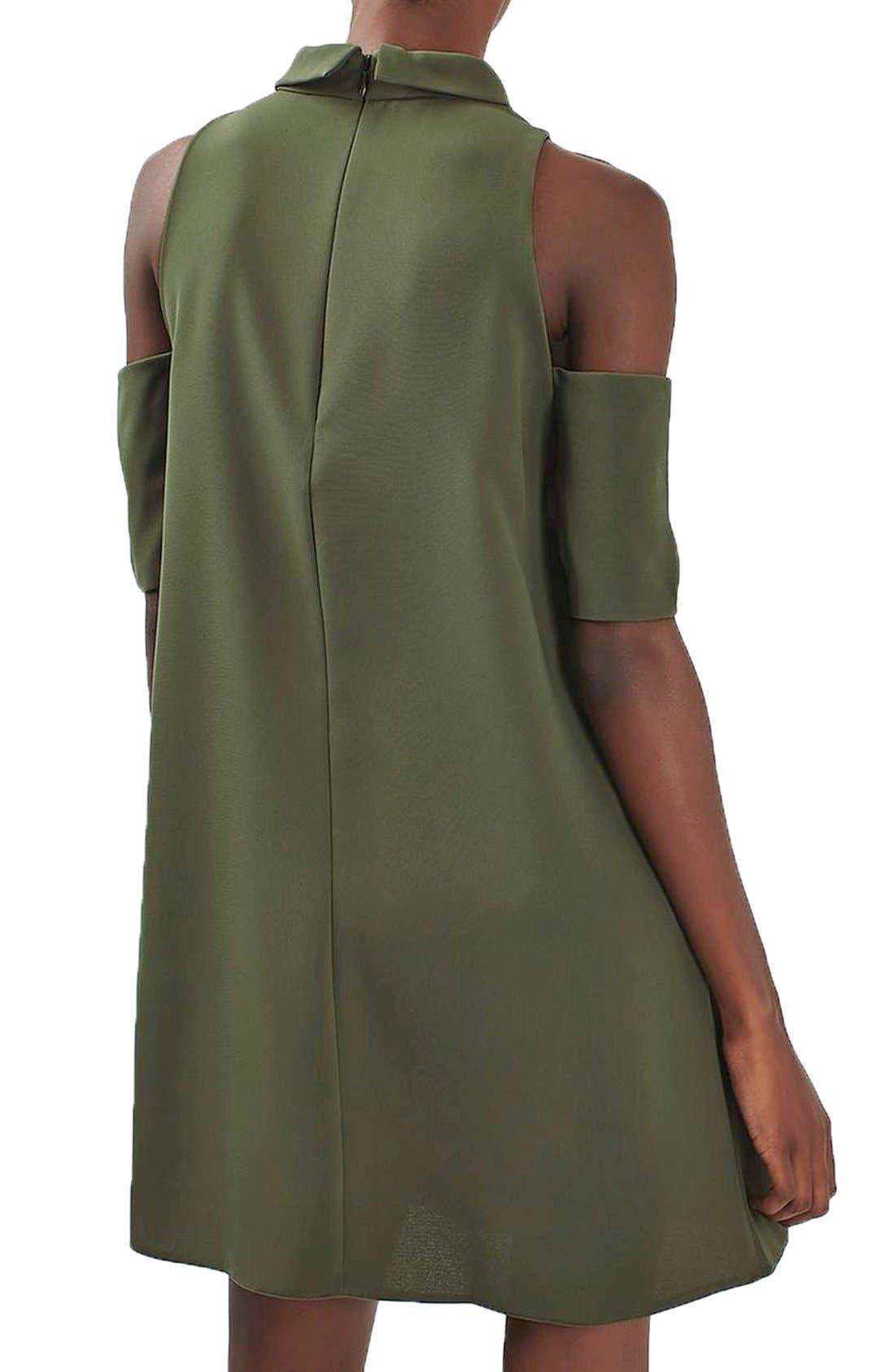 Alternate Image 3  - Topshop Cold Shoulder Keyhole Dress