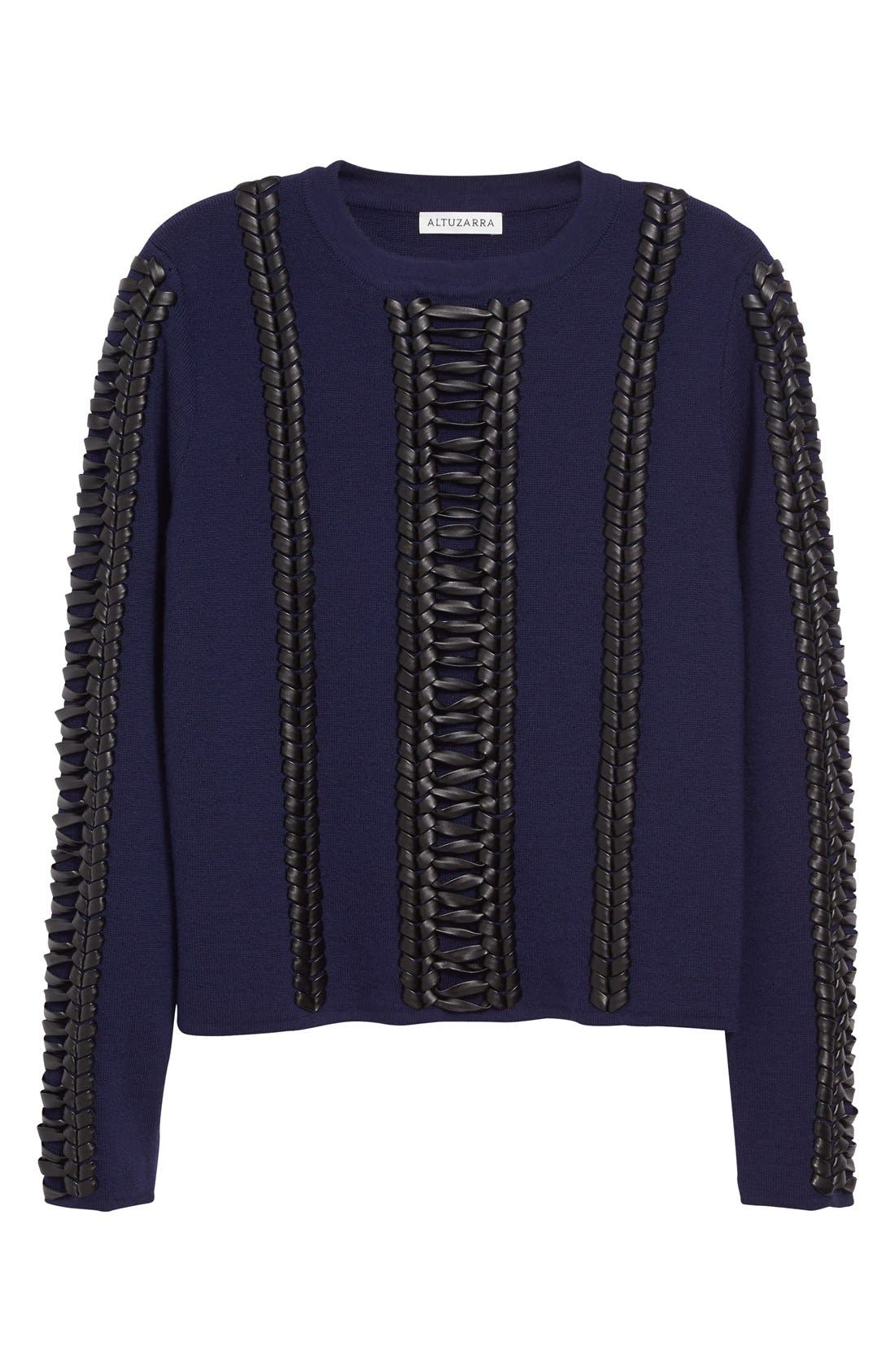 Alternate Image 4  - Altuzarra Deals Lace Detail Wool Sweater
