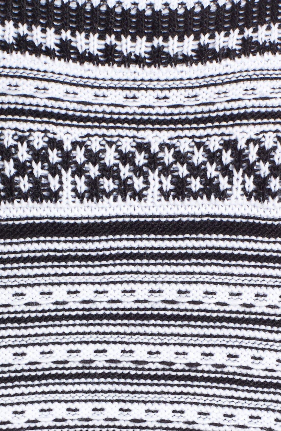 Alternate Image 5  - BCBGeneration Stripe Knit Poncho