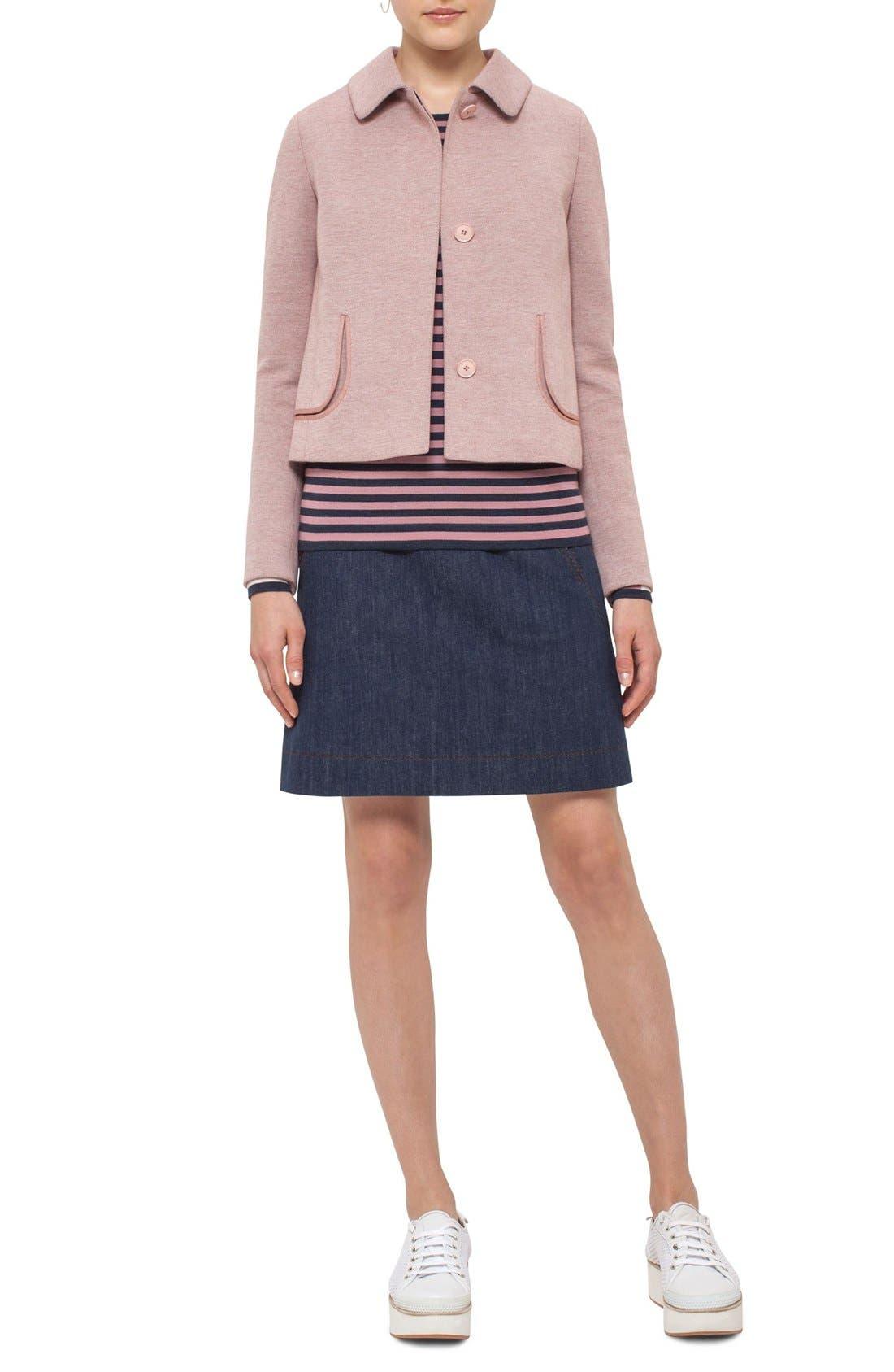 Alternate Image 3  - Akris punto Doll Collar Jersey Jacket
