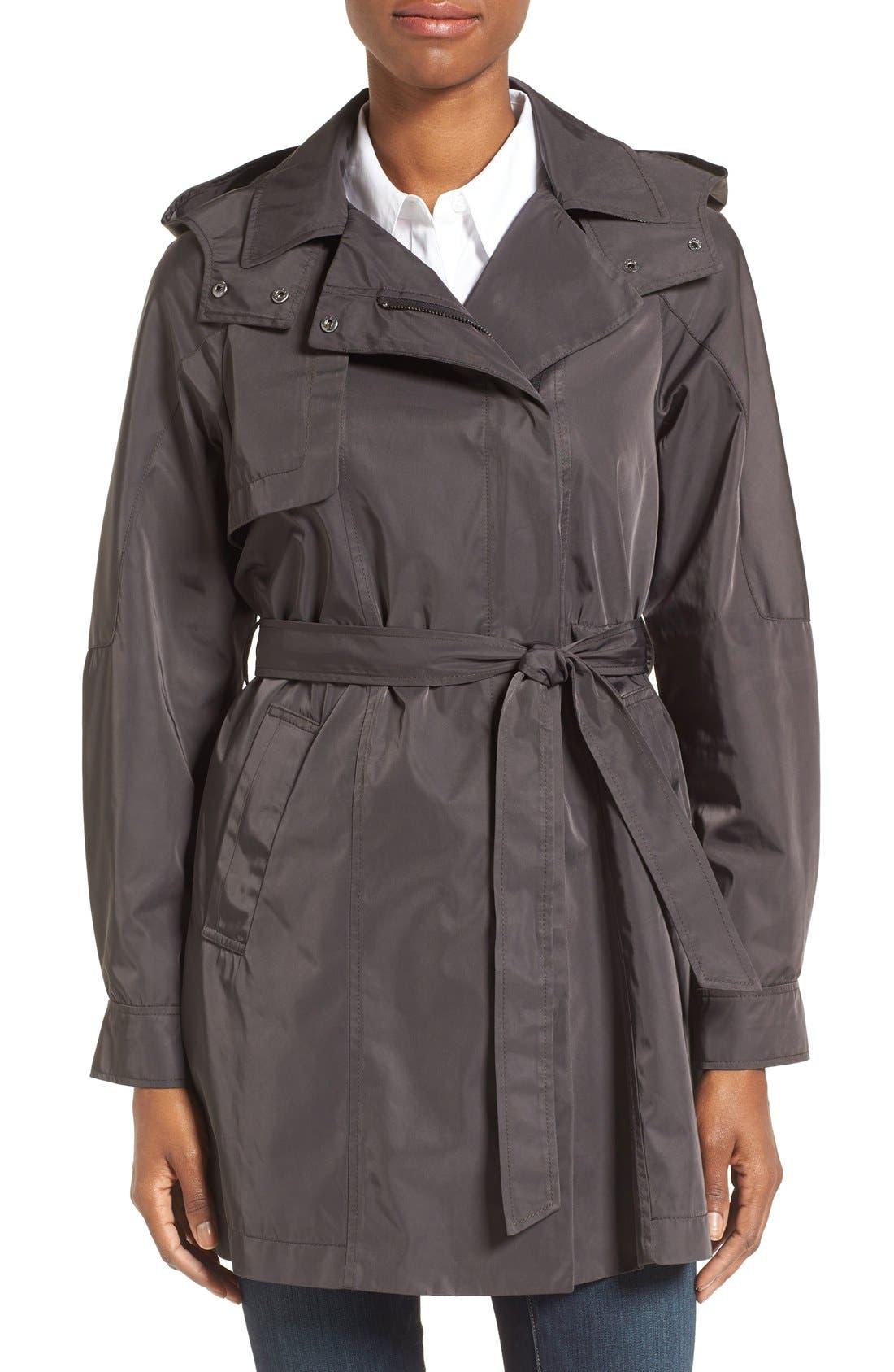 Main Image - Kristen Blake Water Repellent Trench Coat