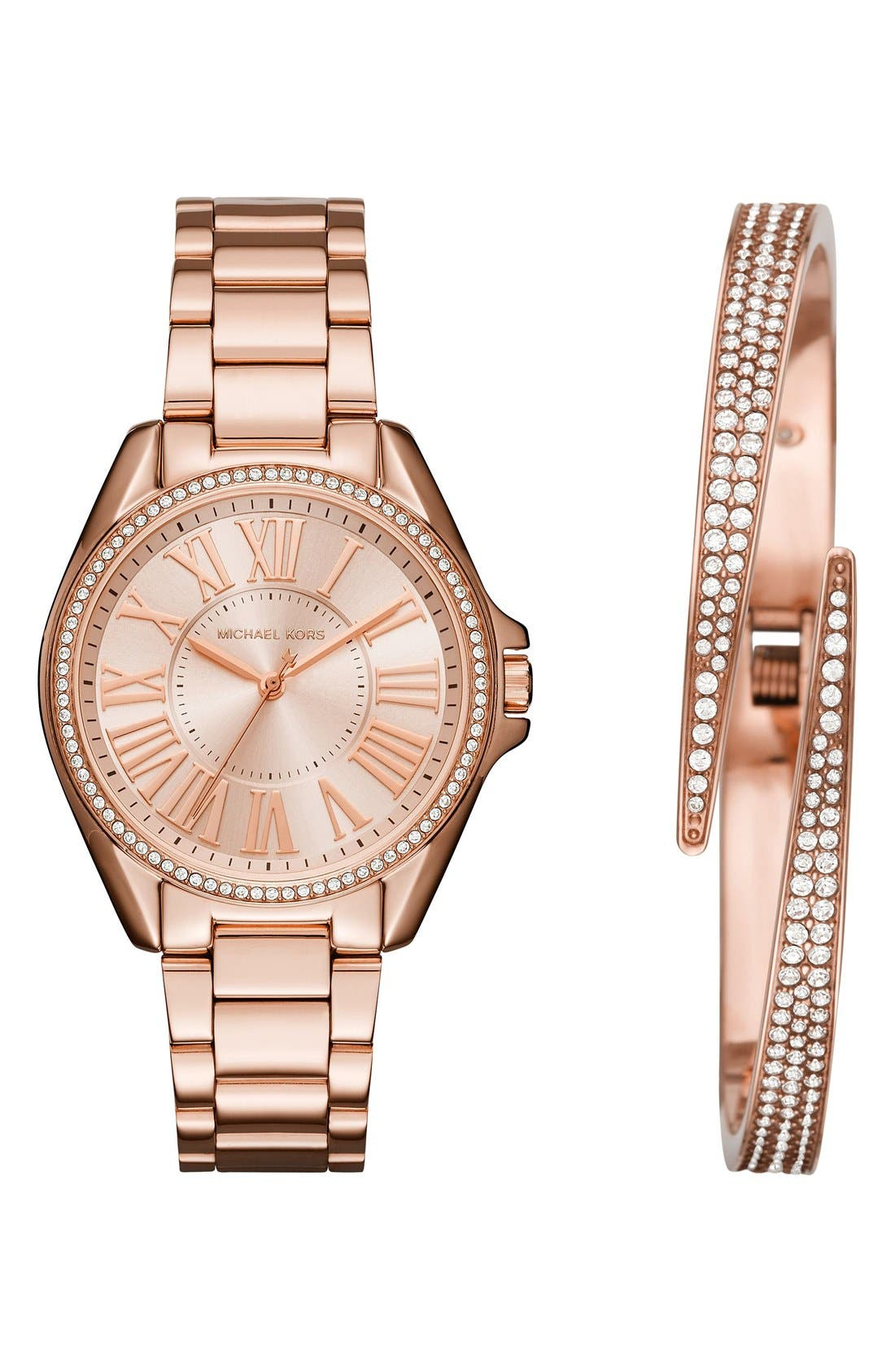 Alternate Image 1 Selected - Michael Kors Bracelet Watch & Bangle Set, 39mm