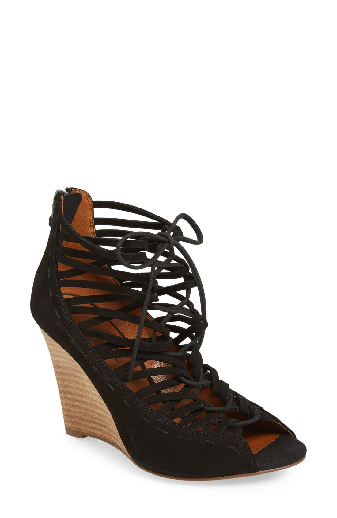 LINEA PAOLO 'Willow' Cage Wedge Sandal