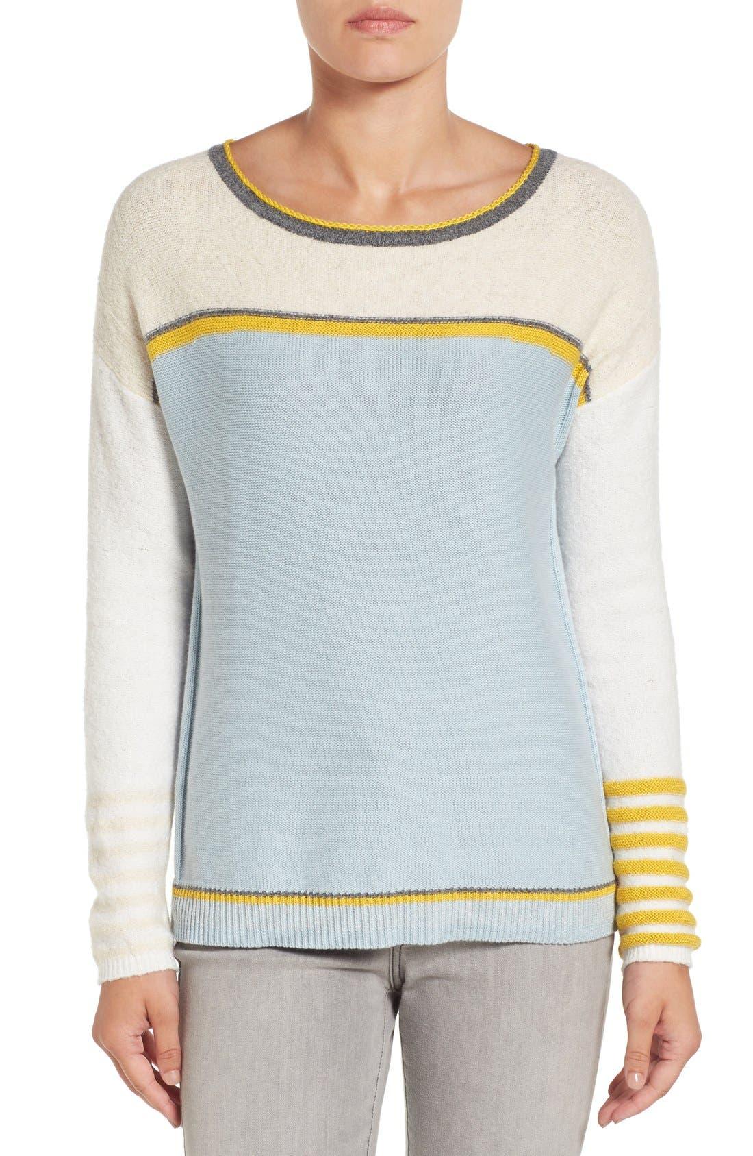 Main Image - Caslon® Button Back Sweater (Regular & Petite)