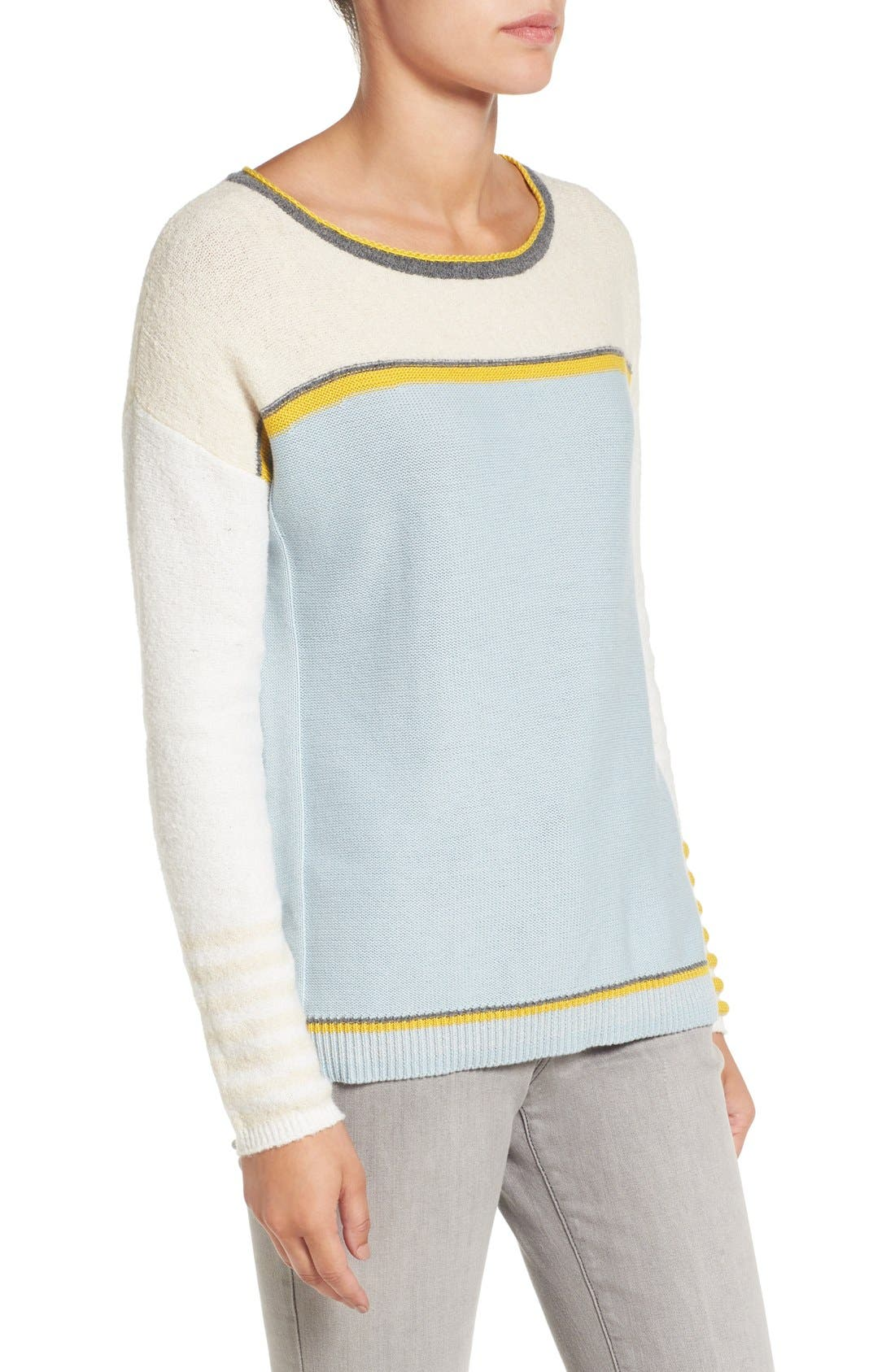 Alternate Image 3  - Caslon® Button Back Sweater (Regular & Petite)