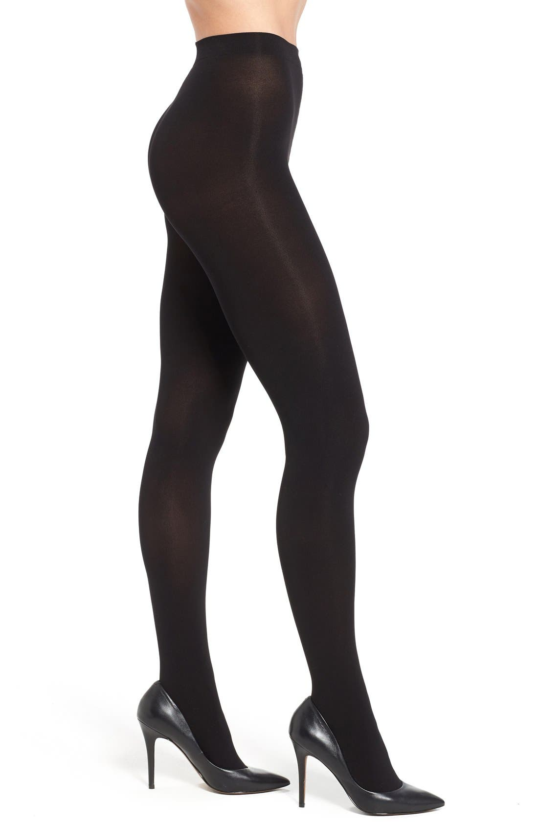 Main Image - Hue 'Parris' Opaque Tights