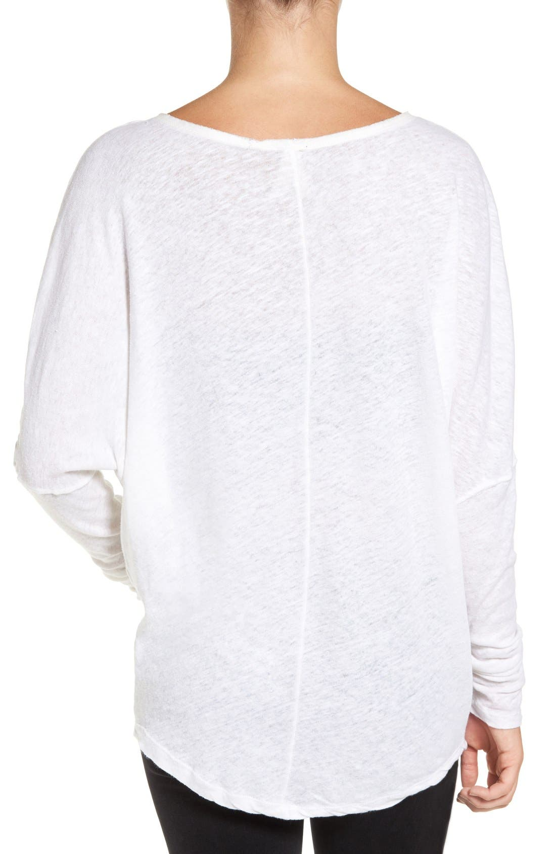 Alternate Image 2  - Free People 'Santa Cruz' Cotton & Linen Top