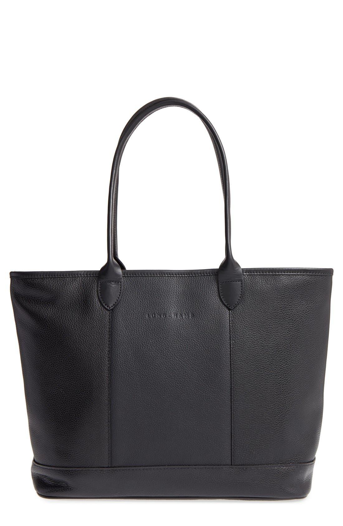 Longchamp 'Veau' Leather Tote