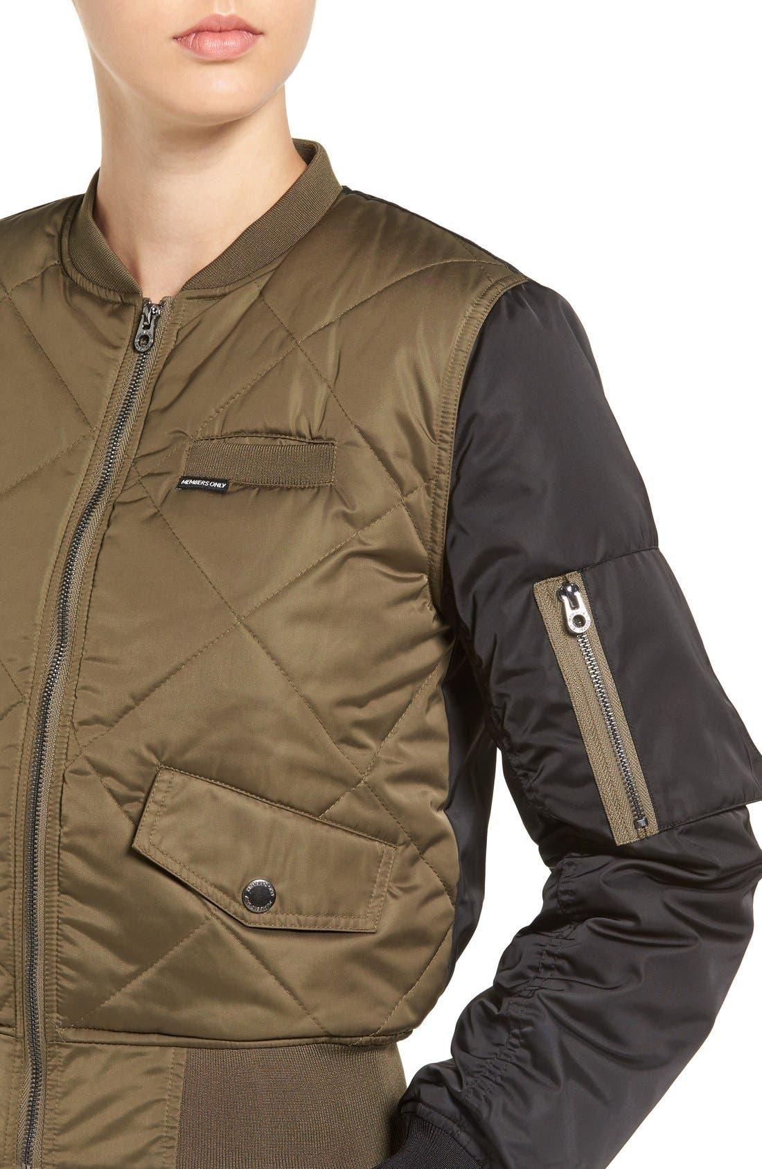 Alternate Image 4  - Members Only Quilted Two-Tone Bomber Jacket