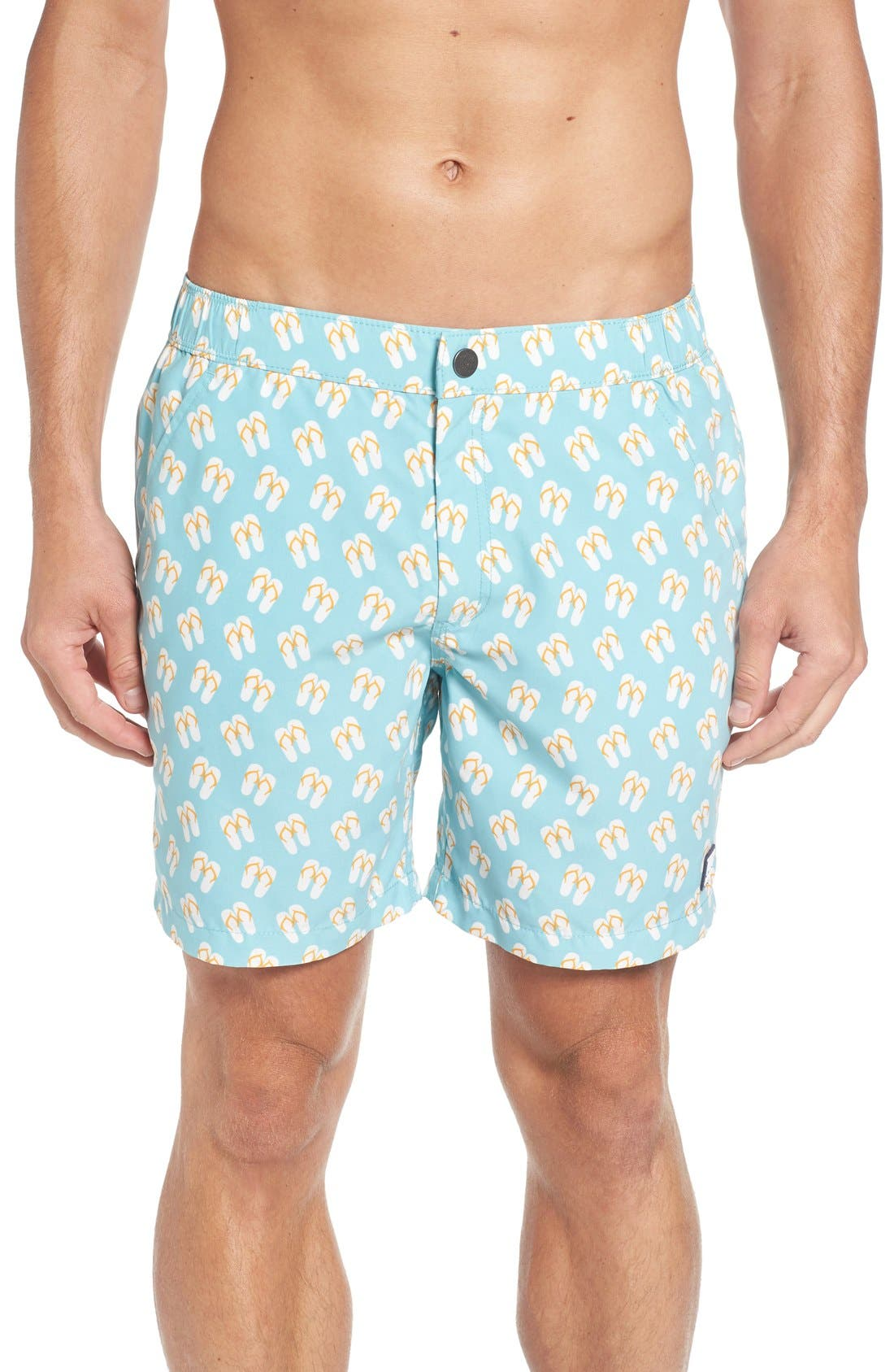 TOM & TEDDY Flip Flop Print Swim Trunks