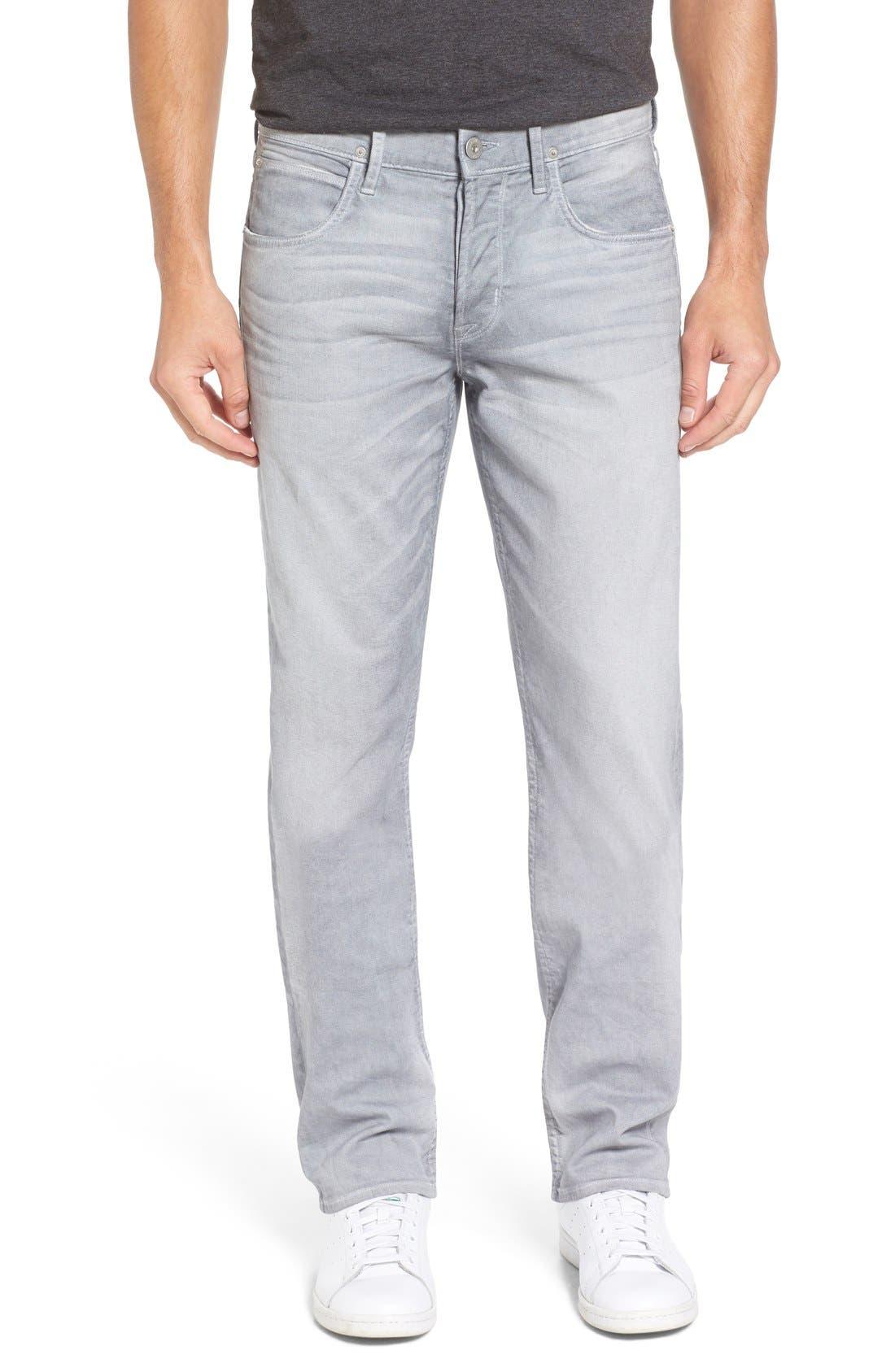 Alternate Image 1 Selected - Hudson Jeans Byron Slim Straight Leg Jeans (Militia Grey)