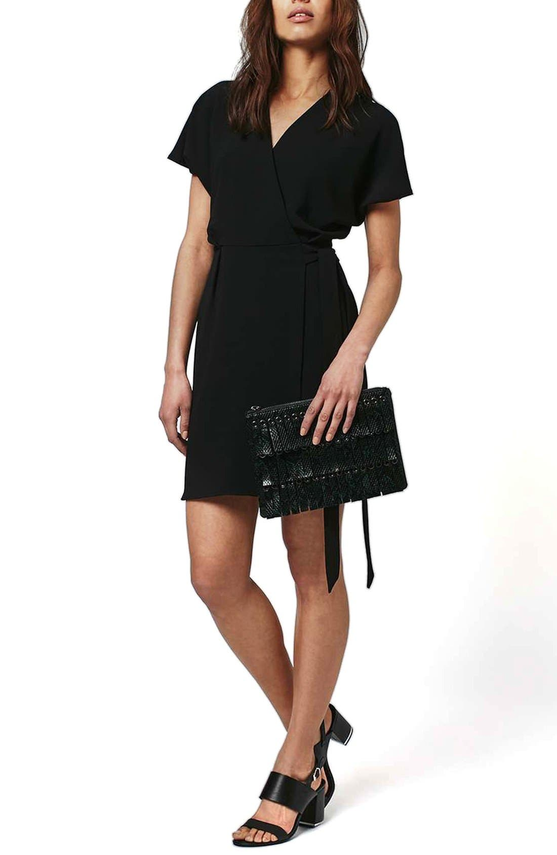 Alternate Image 1 Selected - Topshop Tie Wrap Minidress