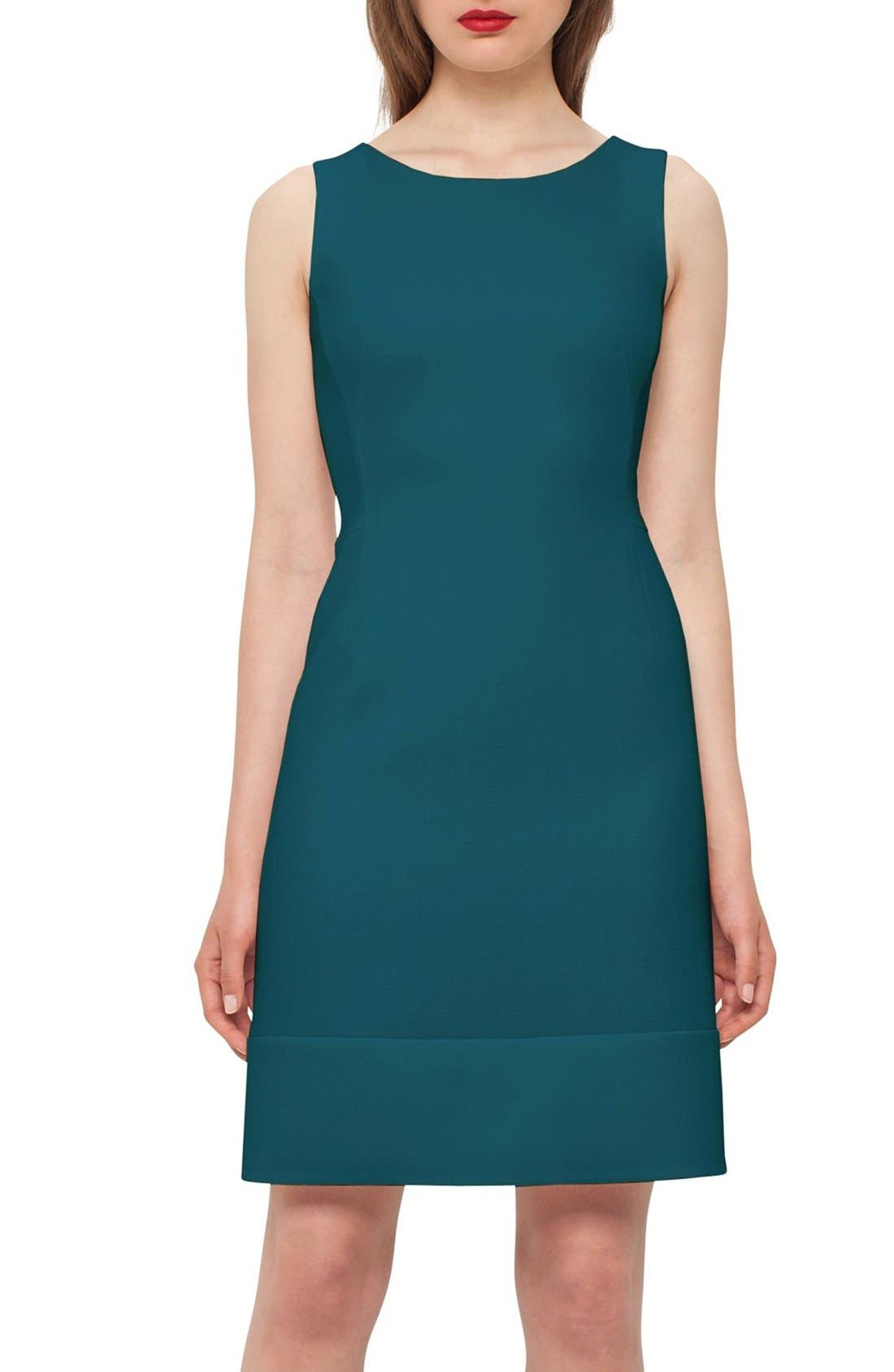 AKRIS Double Face Wool Crepe Dress