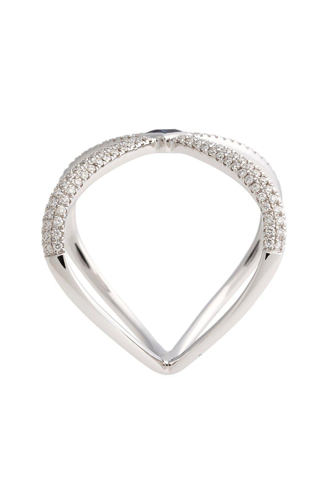 Alternate Image 2  - Bony Levy Diamond & Gem Crossover Ring (Nordstrom Exclusive)